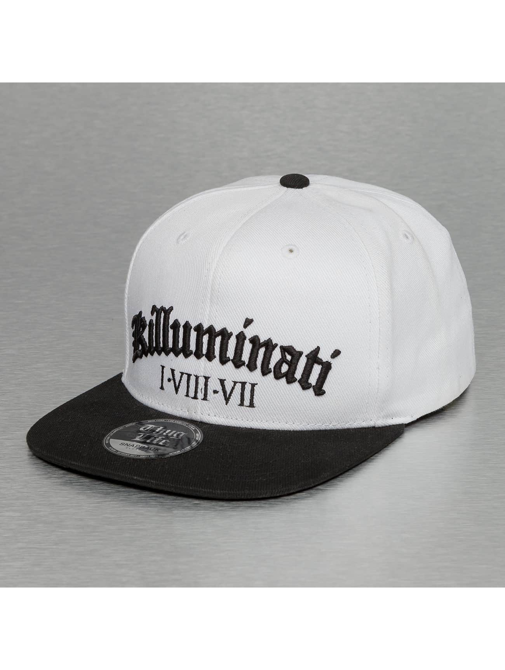 Thug Life / Snapback Cap Killuminati in white Adjustable