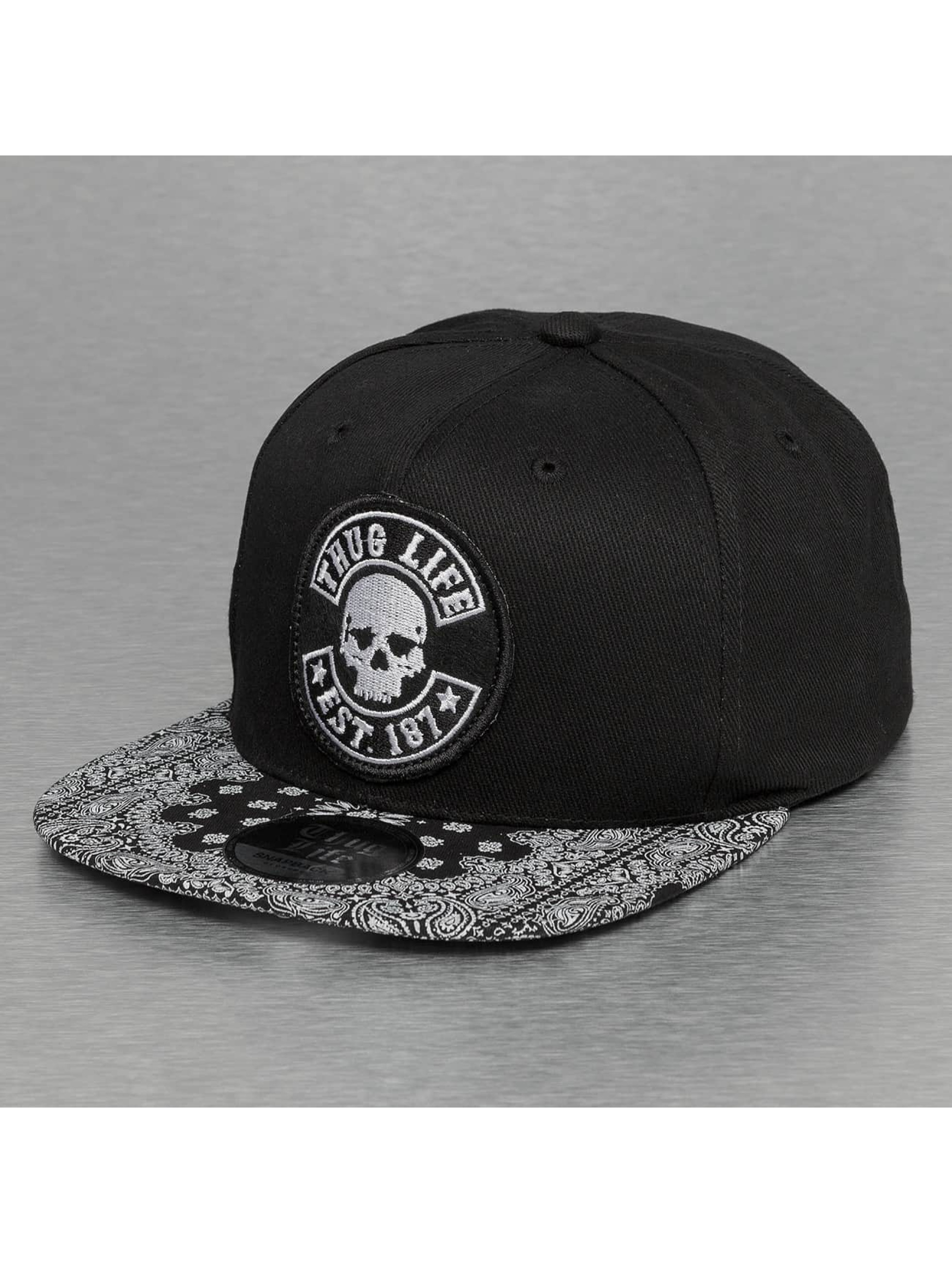 Thug Life / Snapback Cap Paisley in black Adjustable