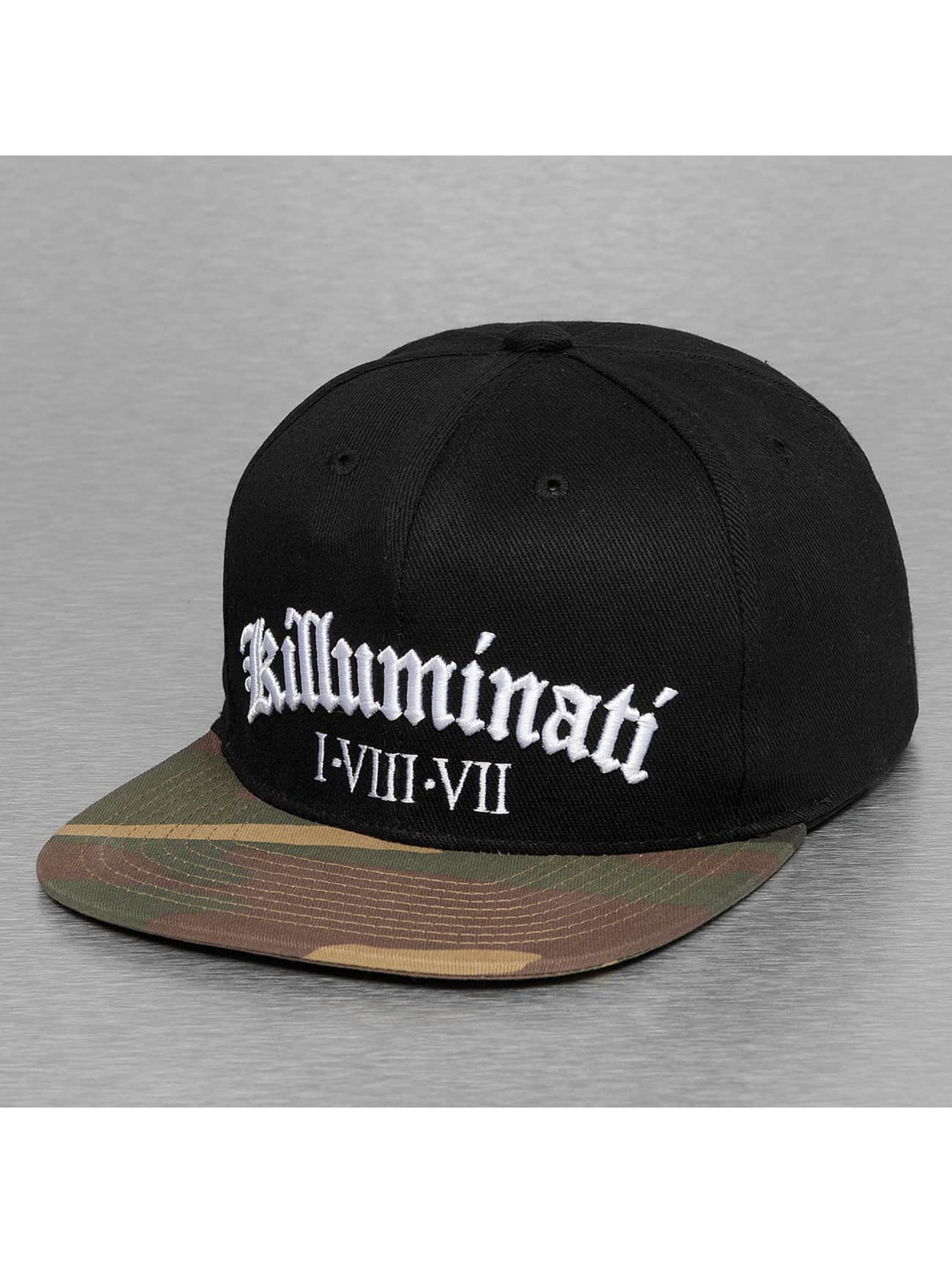 Thug Life / Snapback Cap killuminati in black Adjustable
