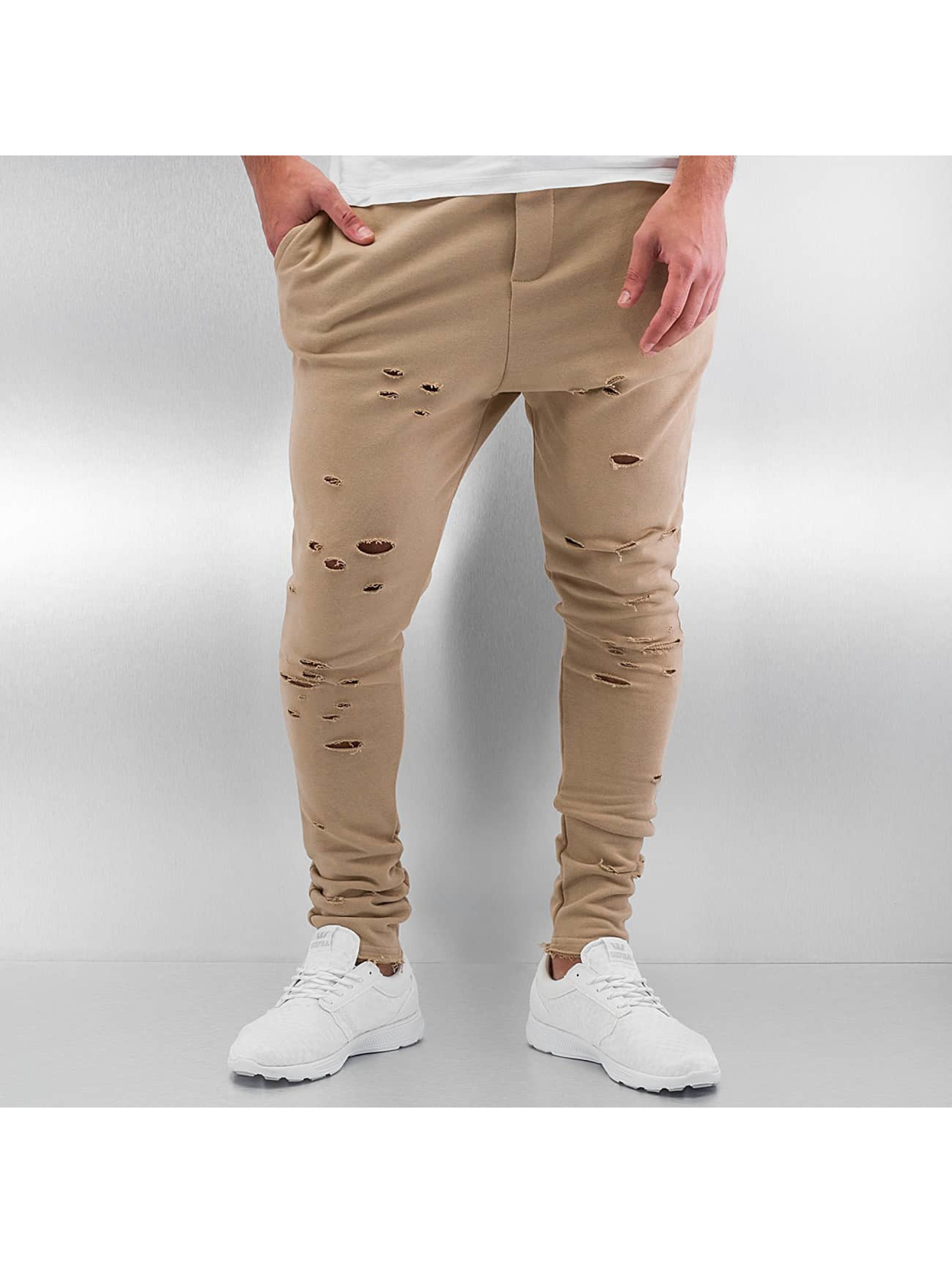 DEF Männer Jogginghose Destroyed in beige