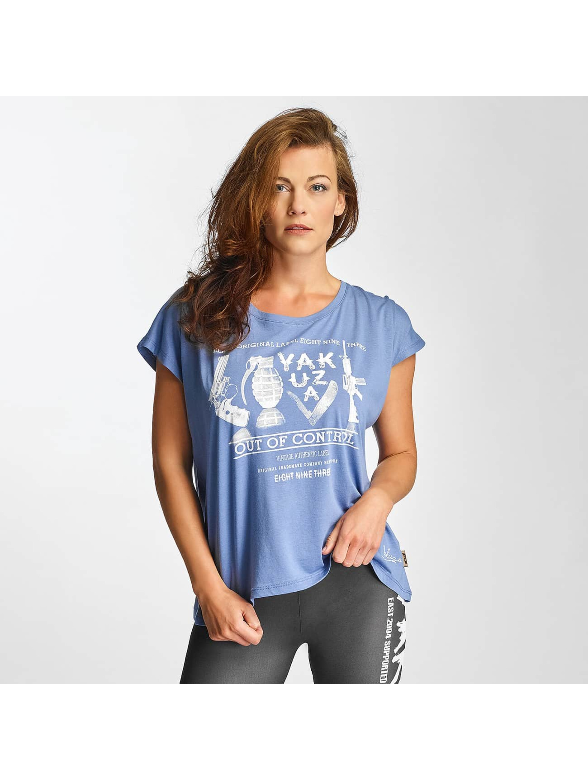 Yakuza Frauen T-Shirt Out Of Control Wide Crew in blau