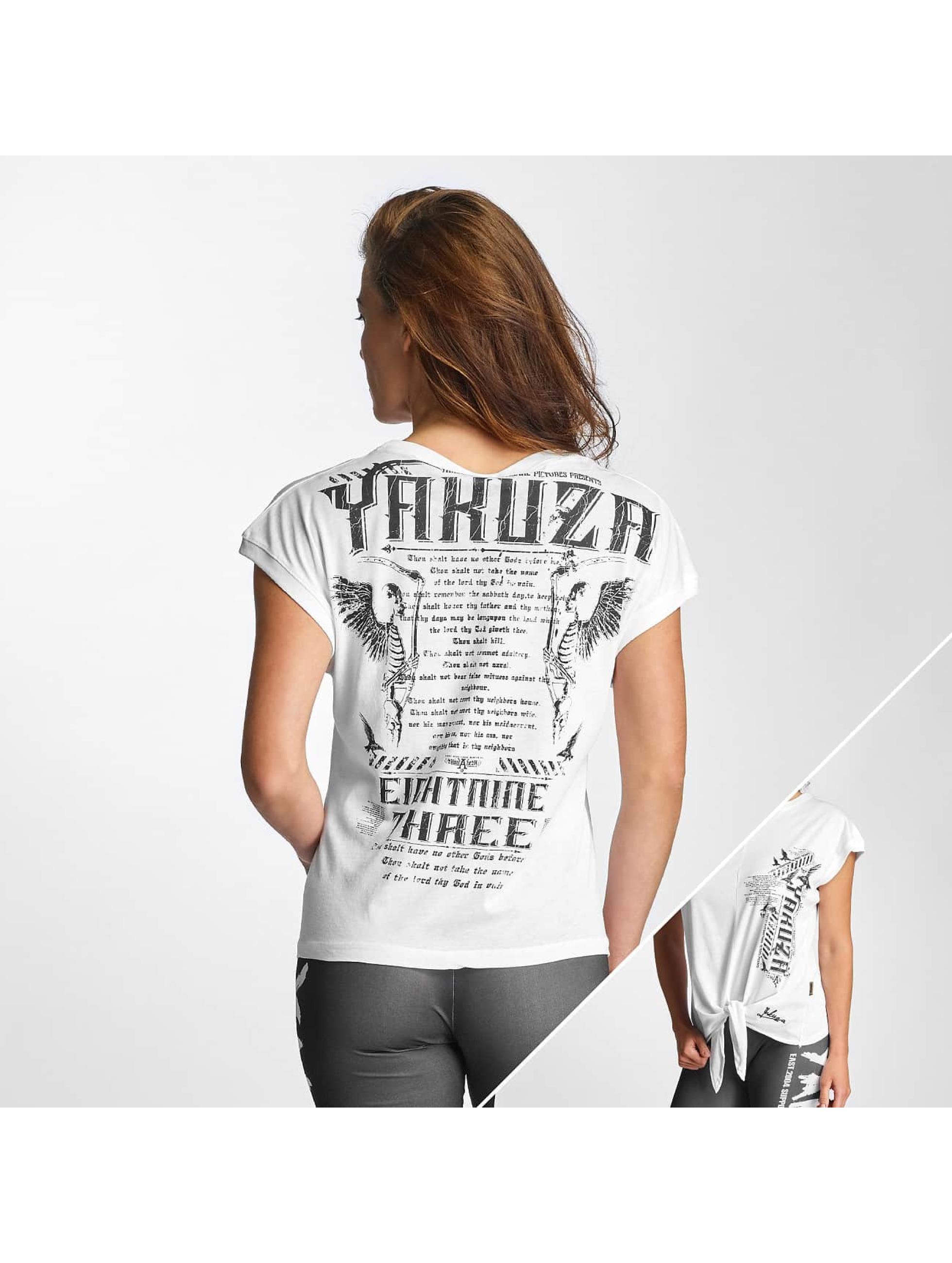 Yakuza Frauen T-Shirt Commandments Knot in weiß