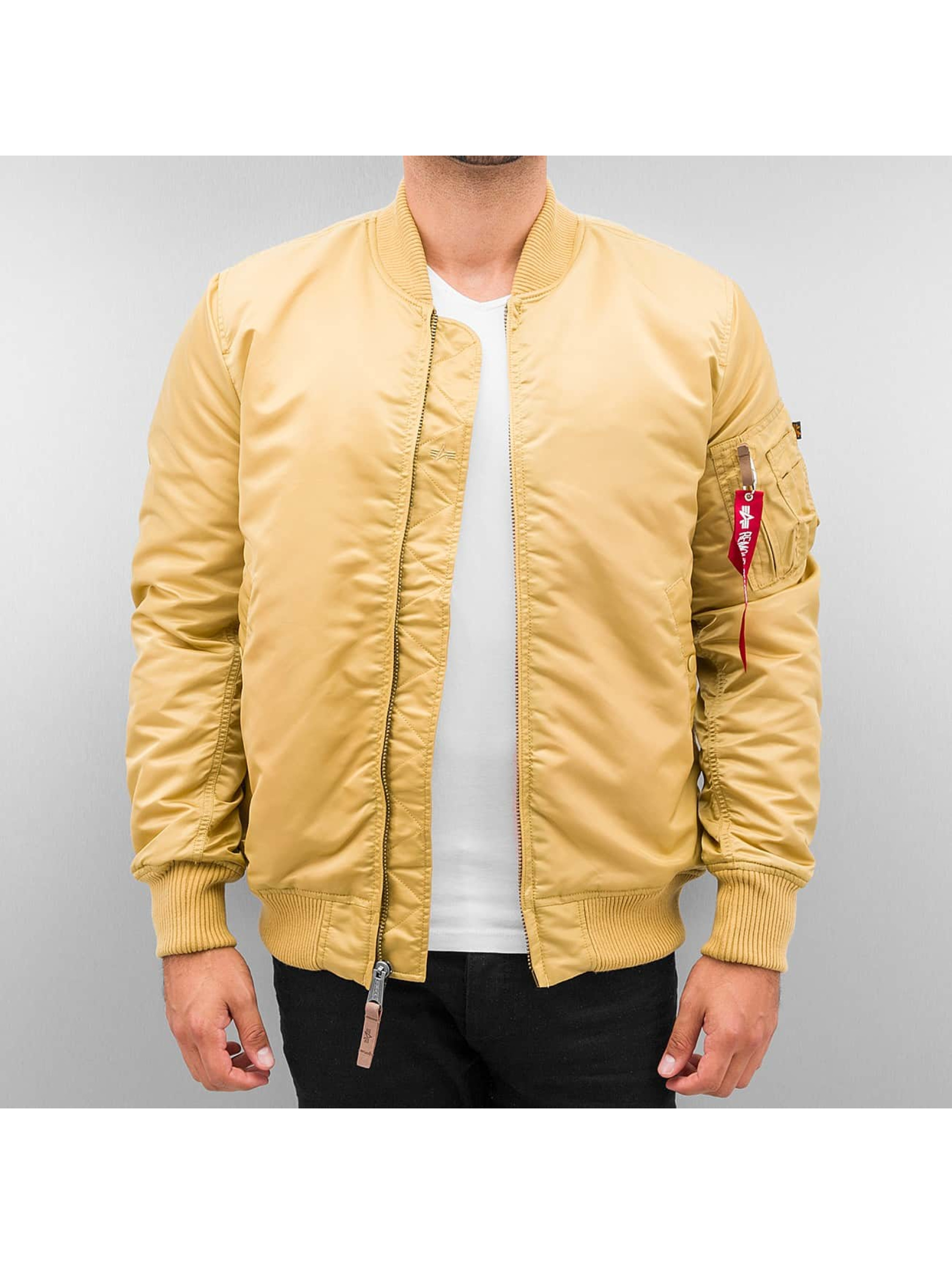 Alpha Industries Männer Bomberjacke MA-1 VF 59 in goldfarben