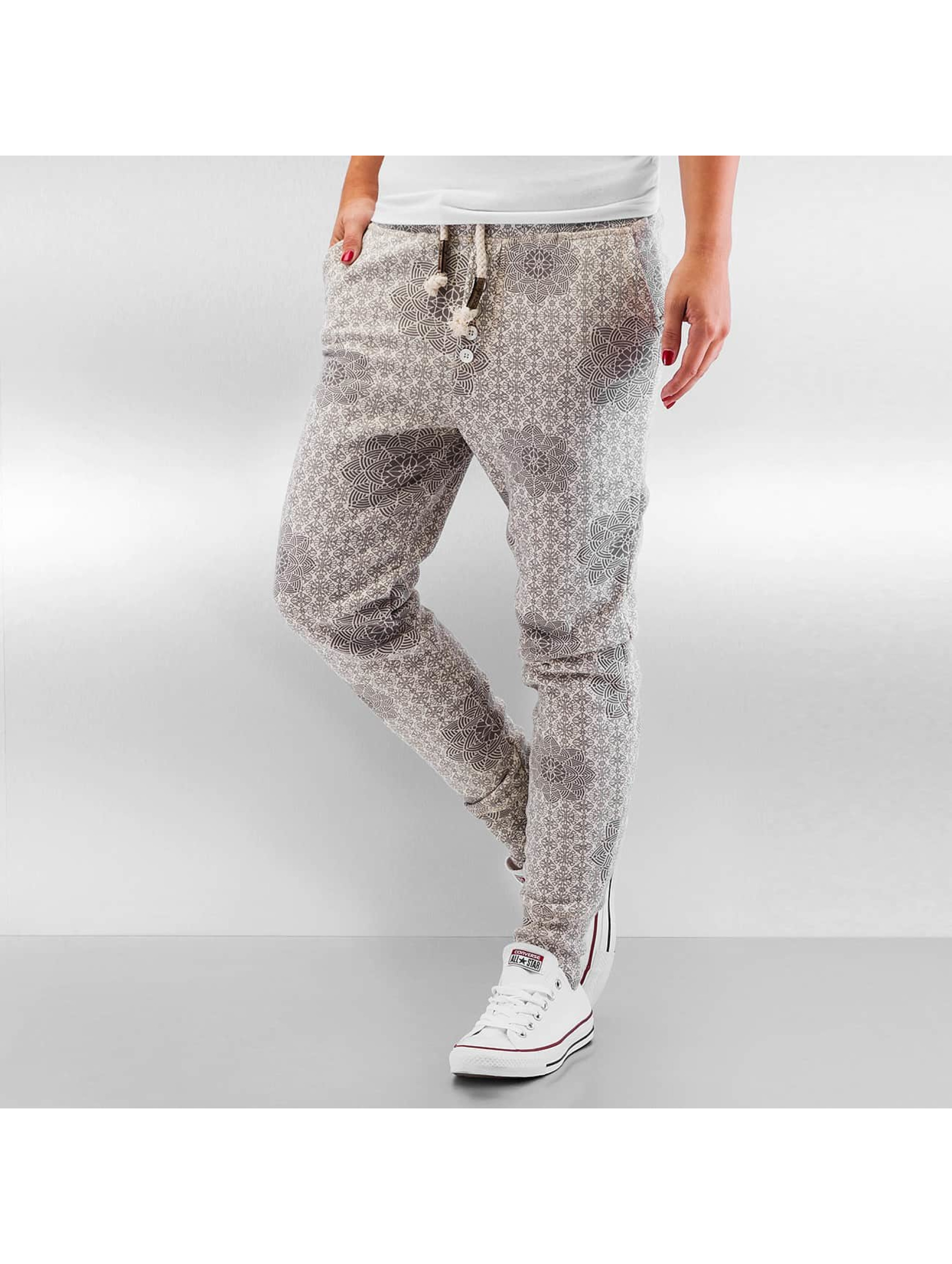 Authentic Style Frauen Jogginghose Pattern in beige
