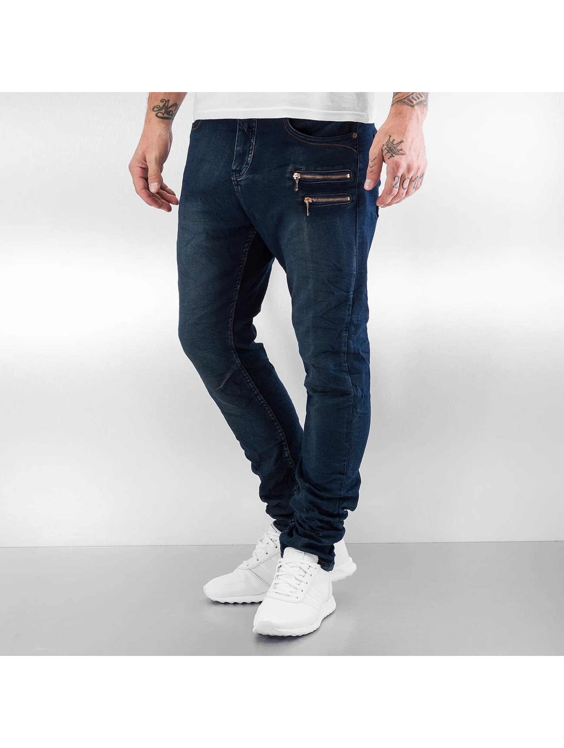 Authentic Style Männer Skinny Jeans Jogger in blau