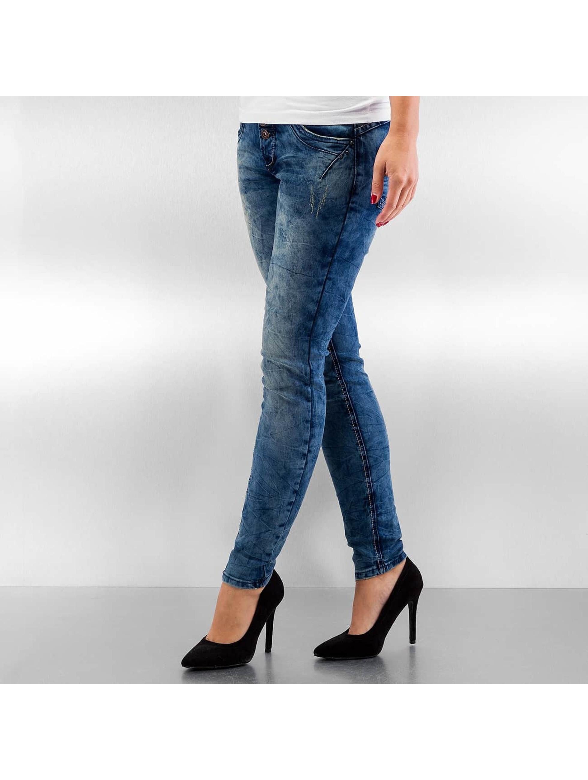 Authentic Style Frauen Skinny Jeans Body Feel in blau