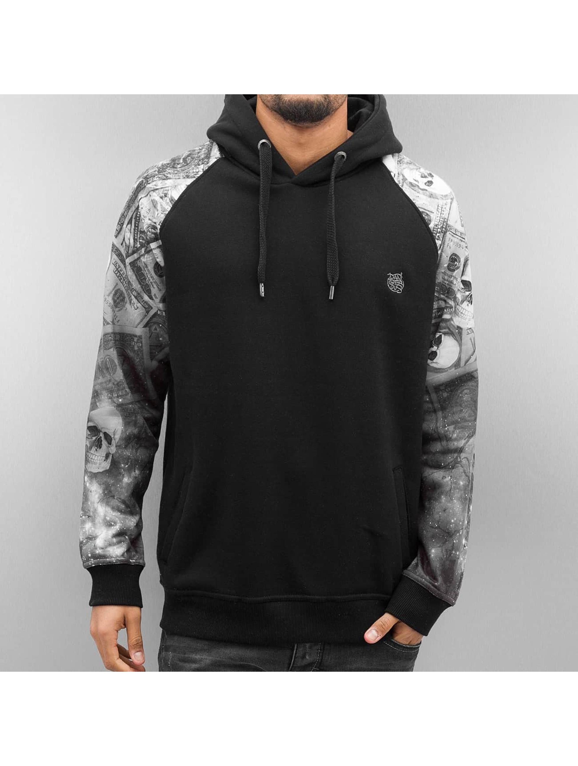 Dangerous DNGRS / Hoodie Moneyindasky in black XL