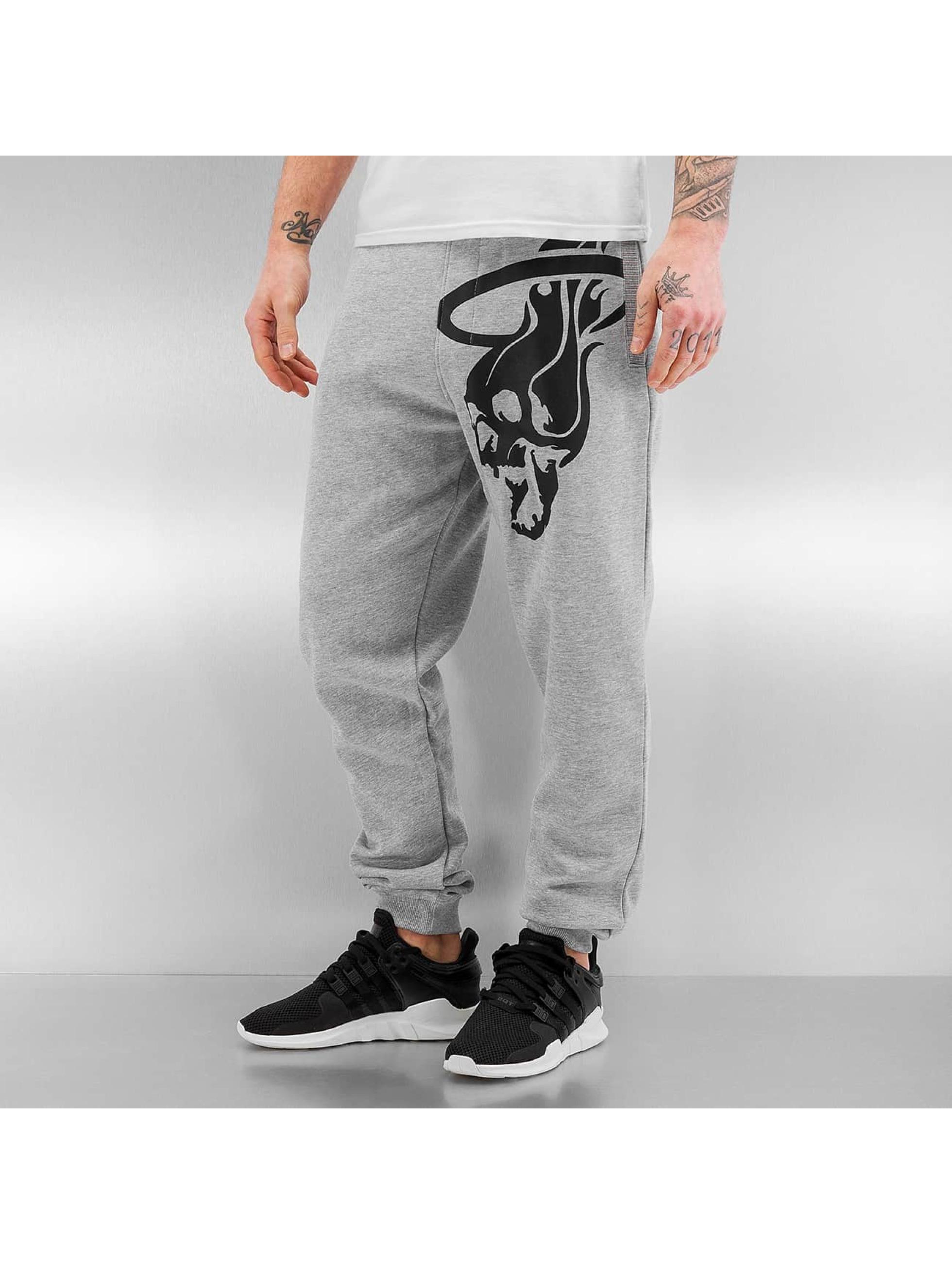 Dangerous DNGRS / Sweat Pant Skullfire in grey XL