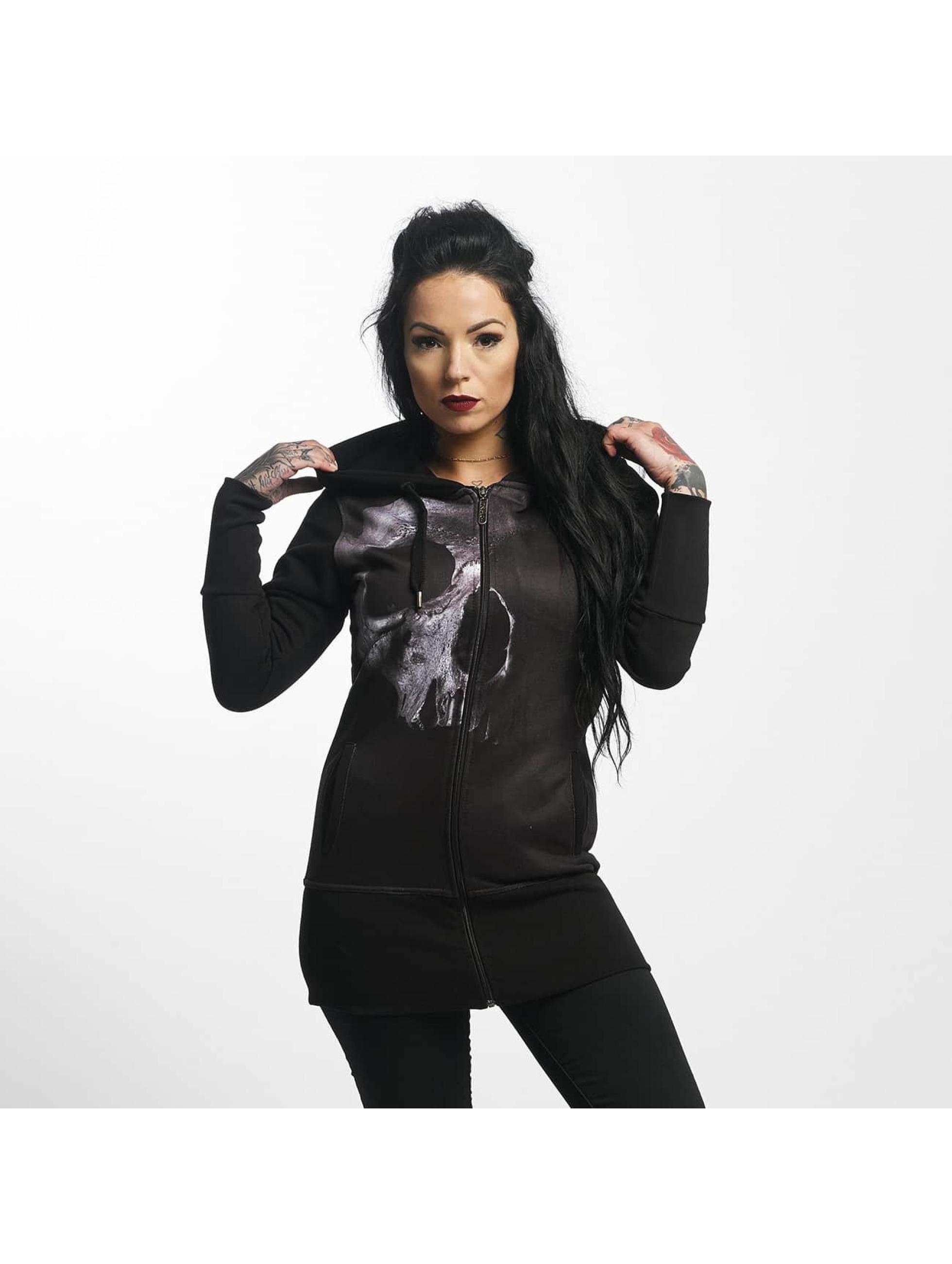Dangerous DNGRS / Zip Hoodie FullSkull in black XS