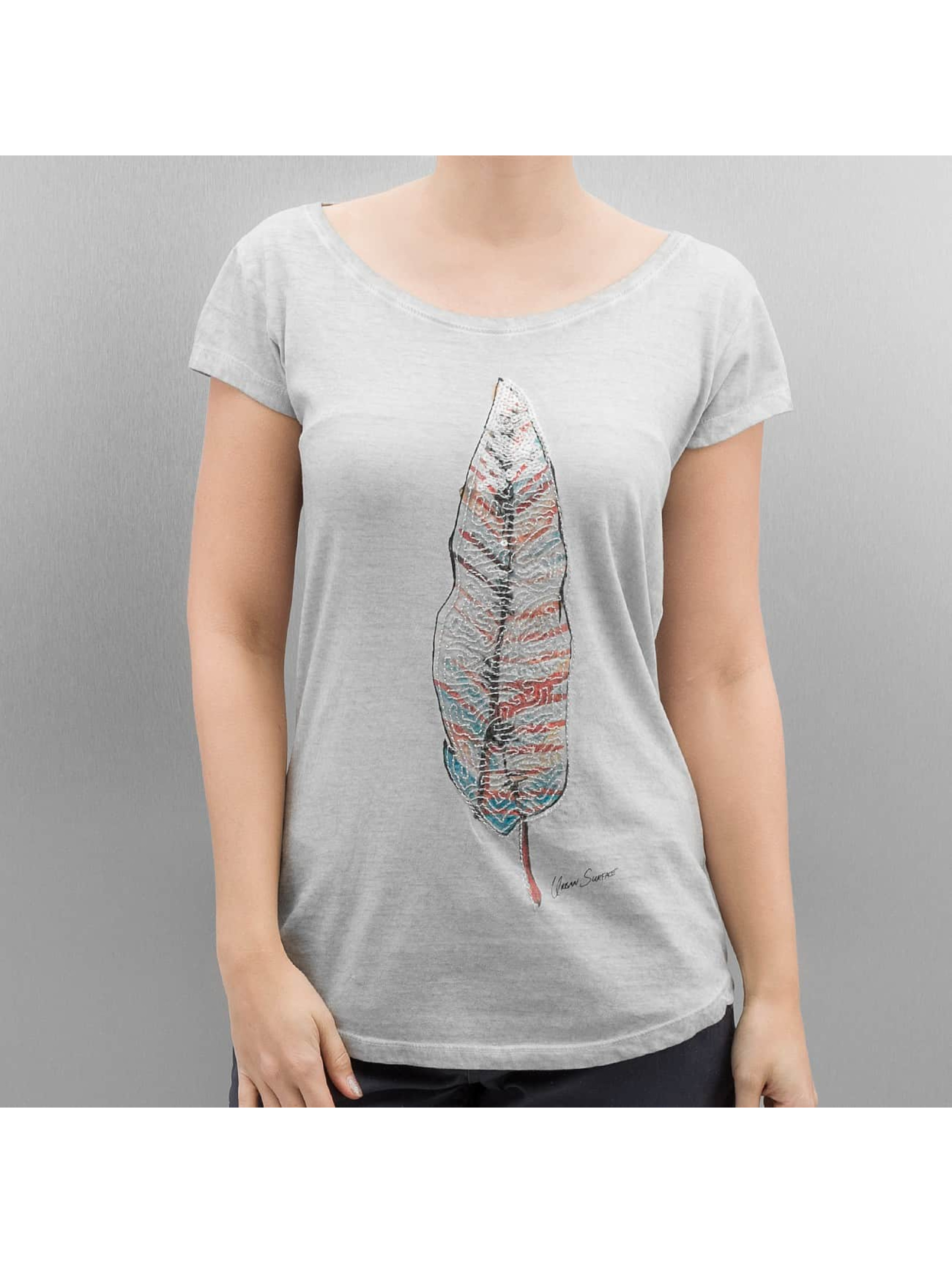 Authentic Style Frauen T-Shirt Feather in grau Sale Angebote Proschim