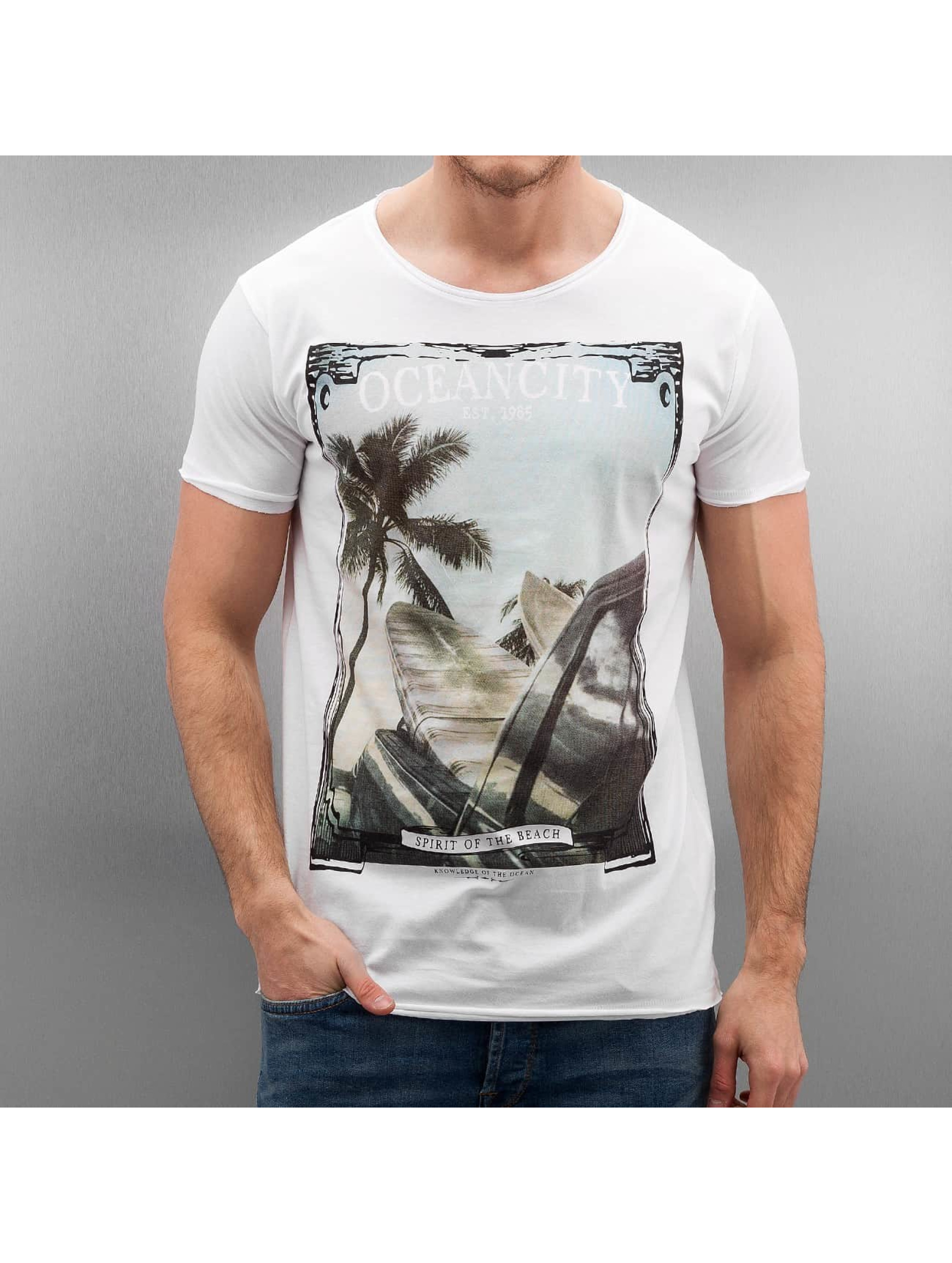 Authentic Style Männer T-Shirt Oceancity in weiß