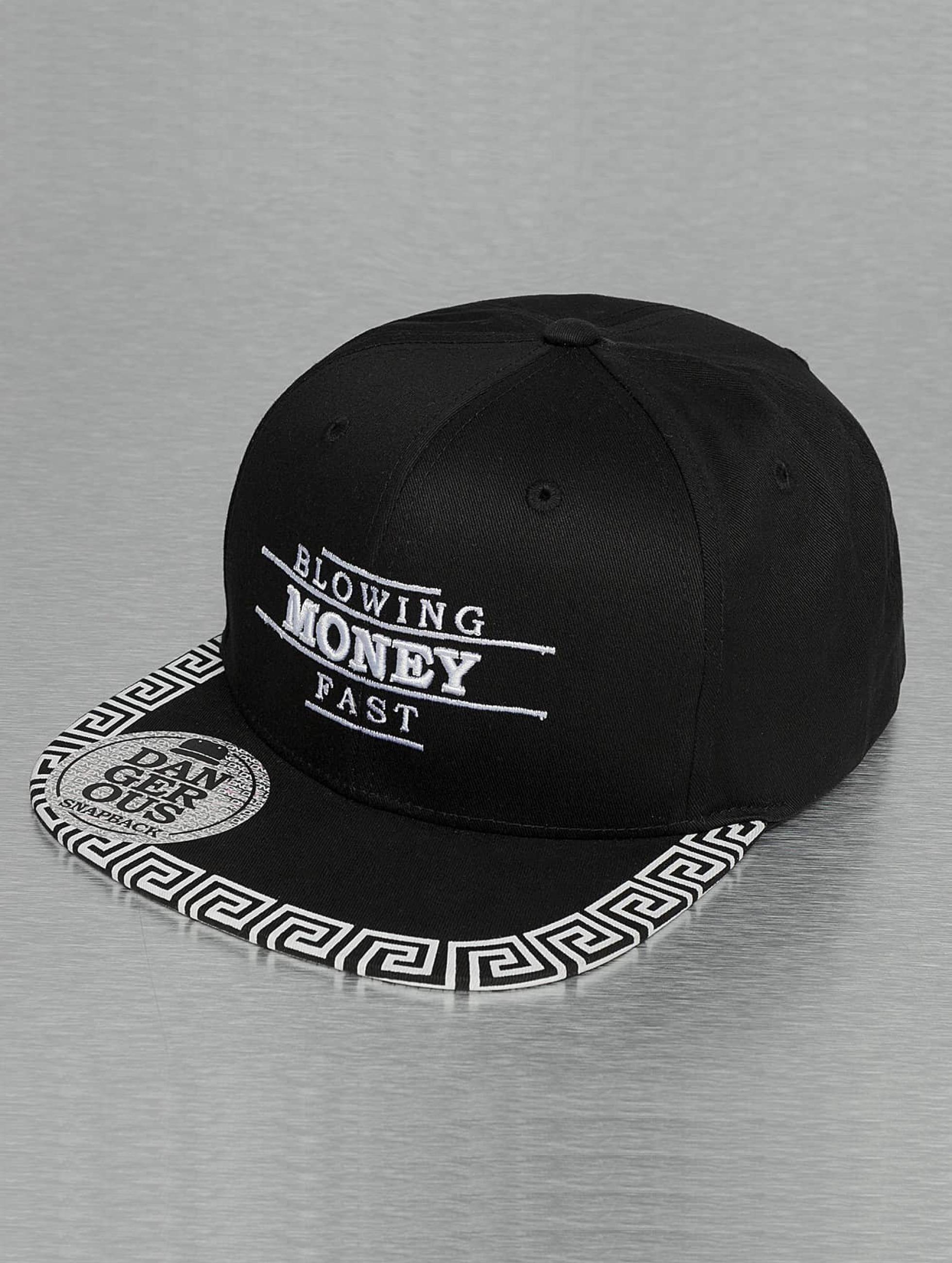 Dangerous DNGRS / Snapback Cap Blowing Money in black Adjustable