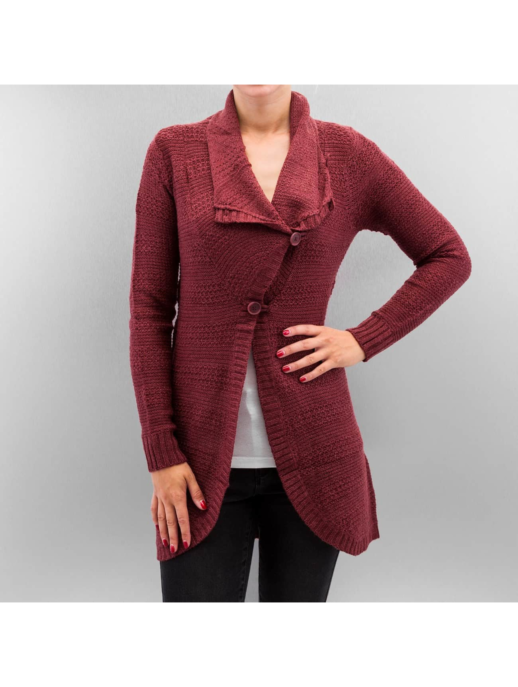 Only Frauen Strickjacke onlNew Rami Long Button in rot