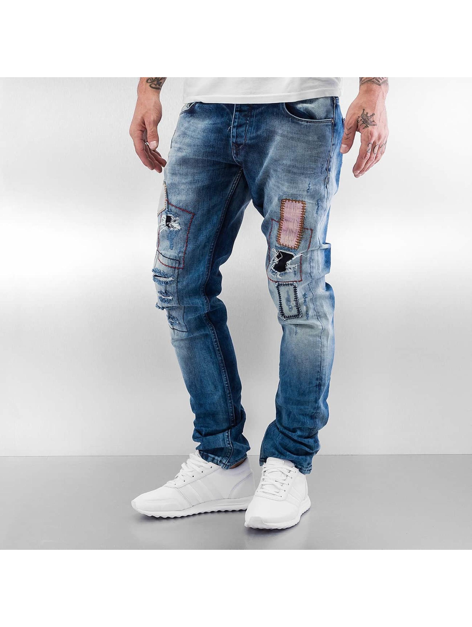 2Y Patches Slim Fit Jeans Light Blue