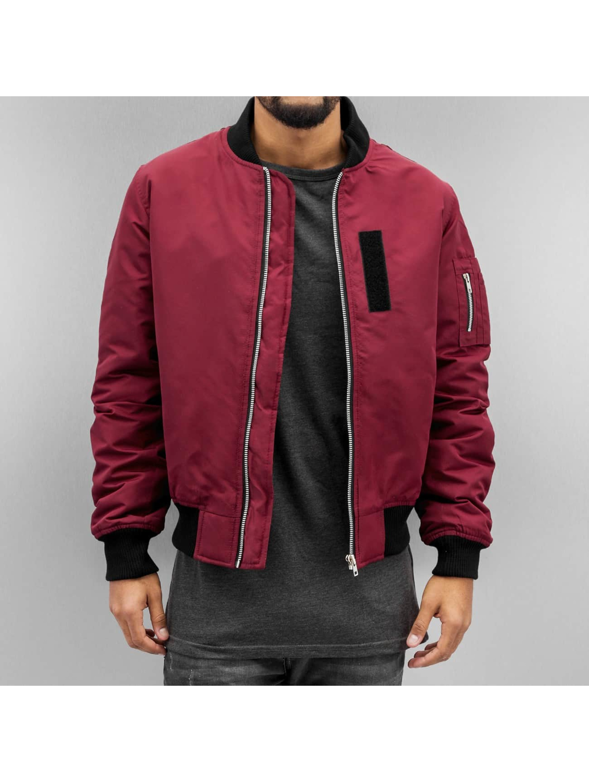 DEF Bomber jacket Basic Patch red