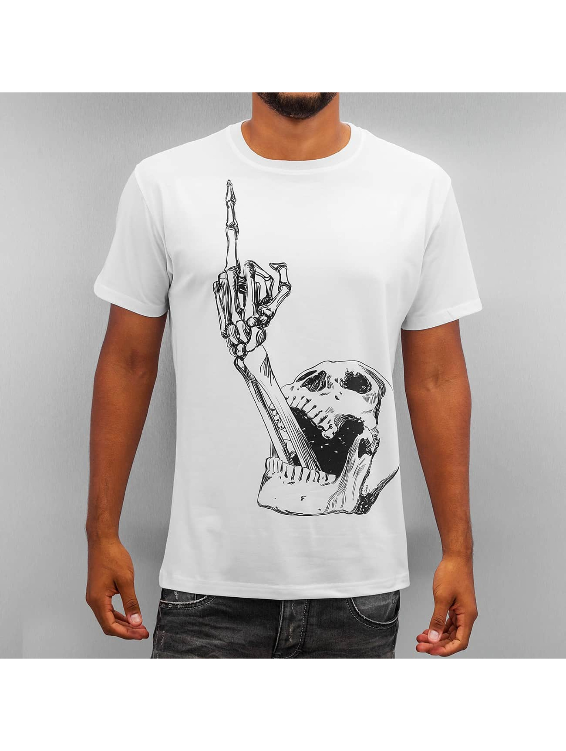 Monkey Business Männer T-Shirt Skull Finger in weiß