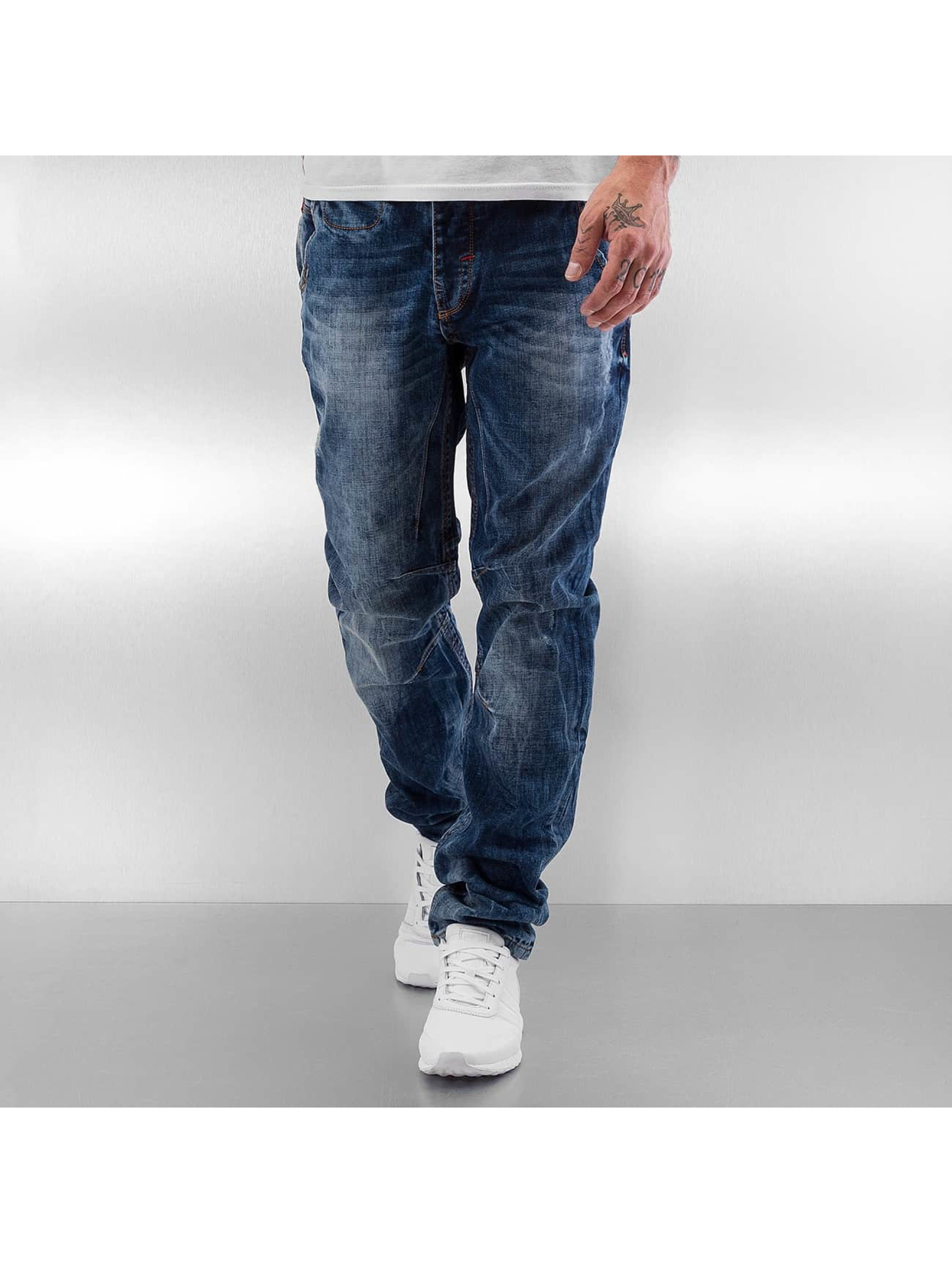 Pascucci Männer Straight Fit Jeans Gereon in blau