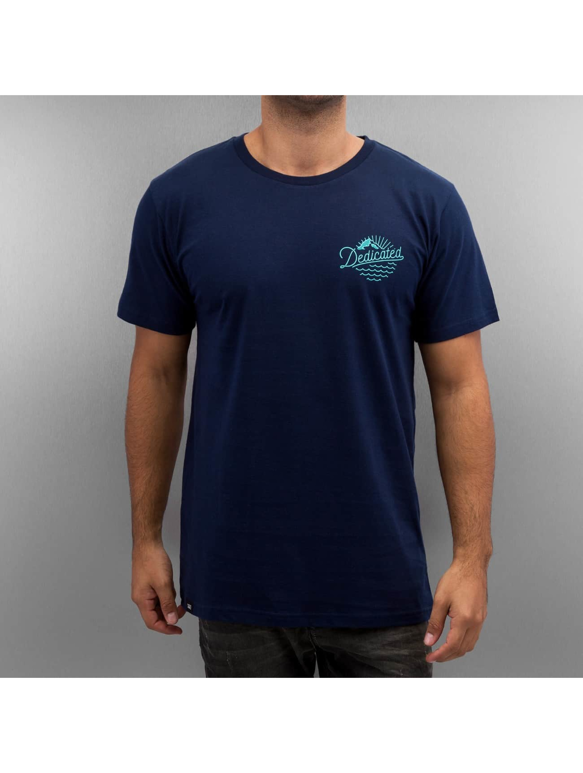 DEDICATED Männer T-Shirt Good Vibes in blau