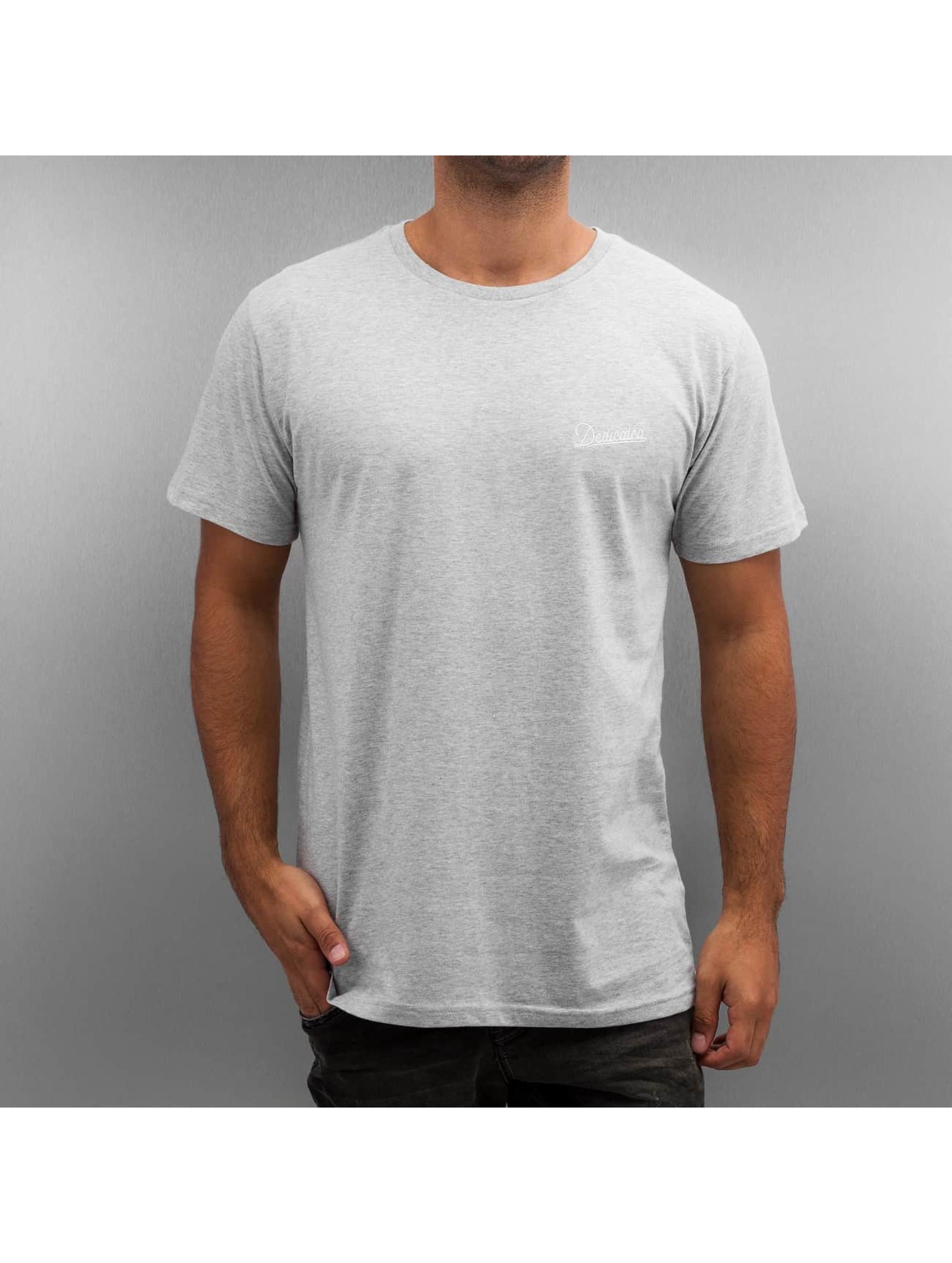DEDICATED Männer T-Shirt Stockholm Mountain Script in grau