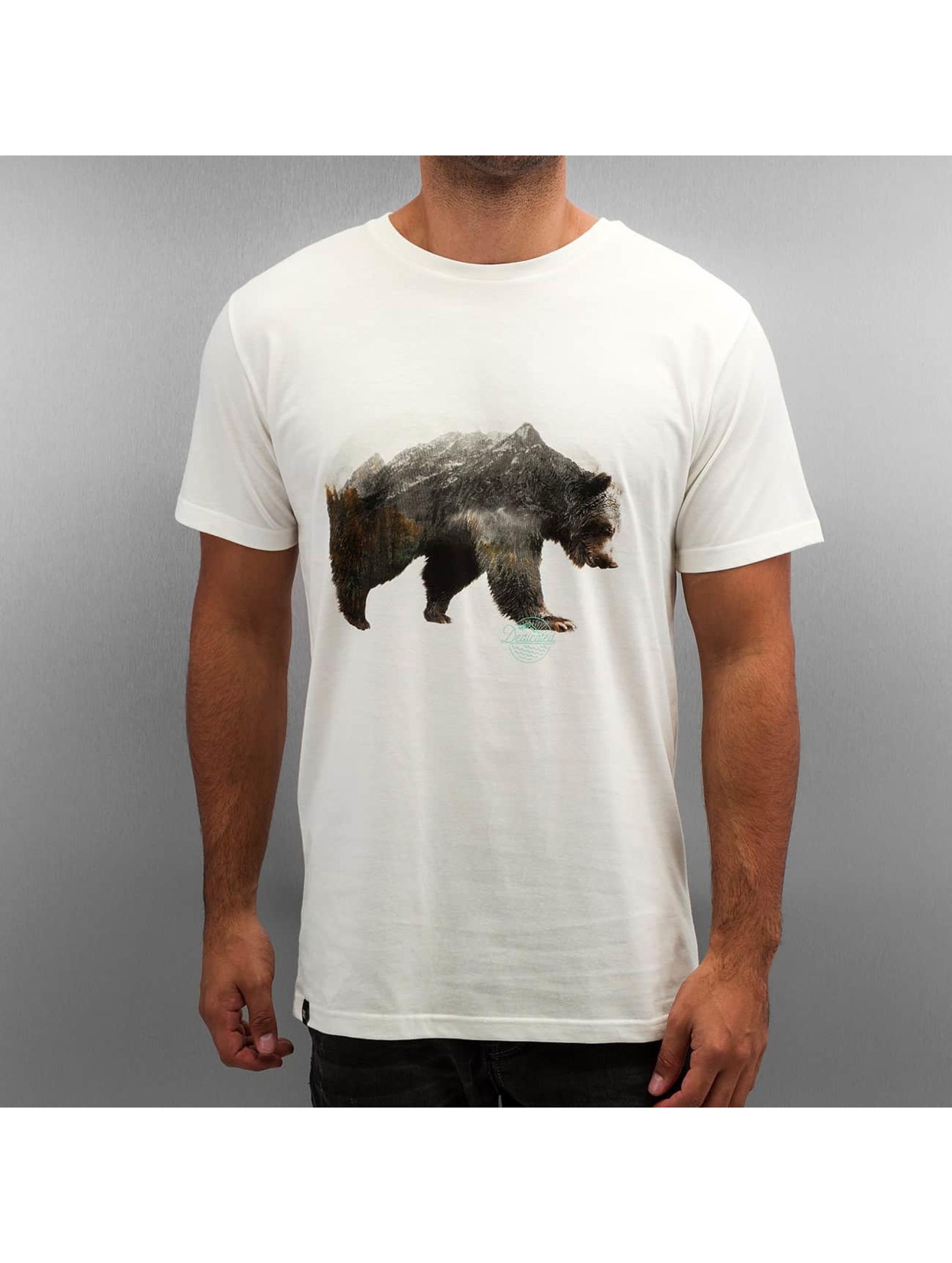DEDICATED Männer T-Shirt Niklas Nordemar Bear Mountain in weiß