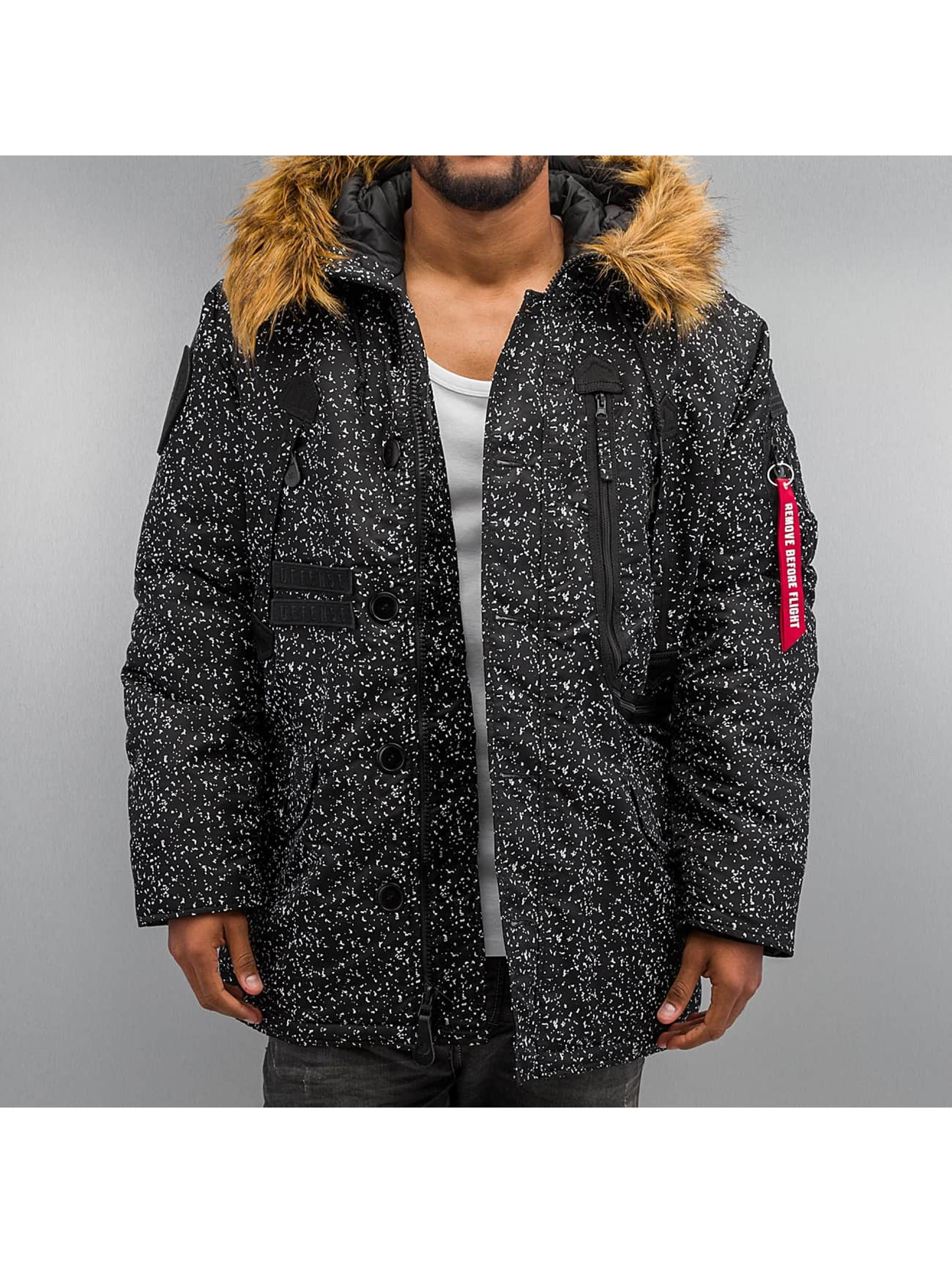 Alpha Industries Polar K1X S Jacket Black White Speckles