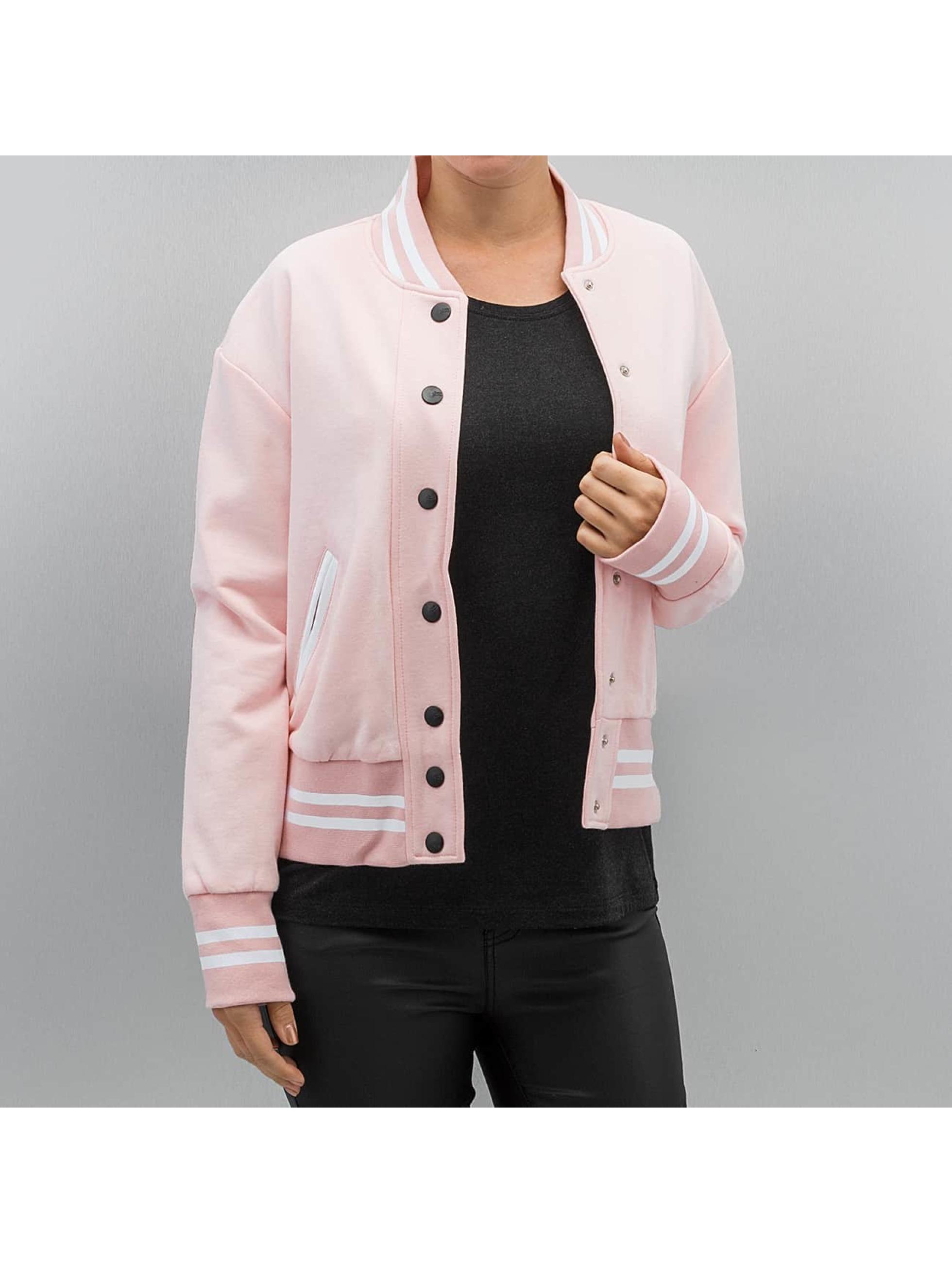 Sixth June Frauen College Jacke Parisiennes Teddy in rosa