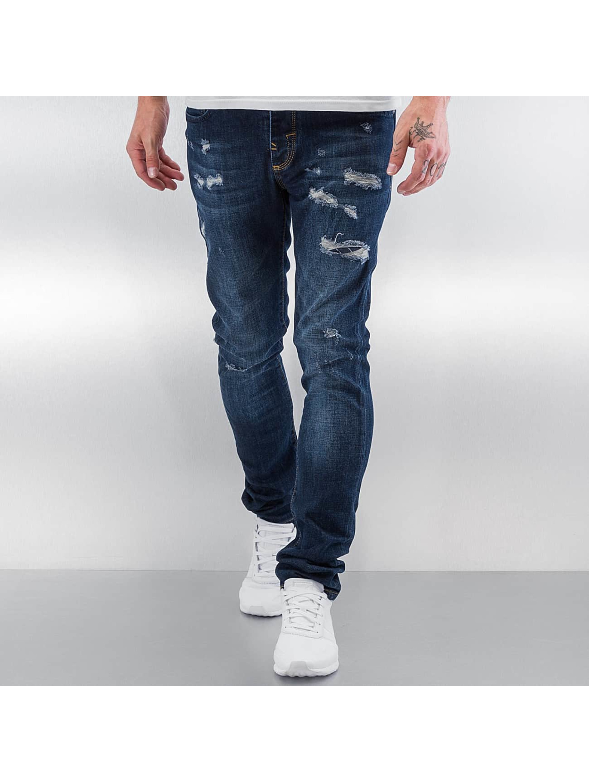 Pascucci Männer Straight Fit Jeans Adrena in blau
