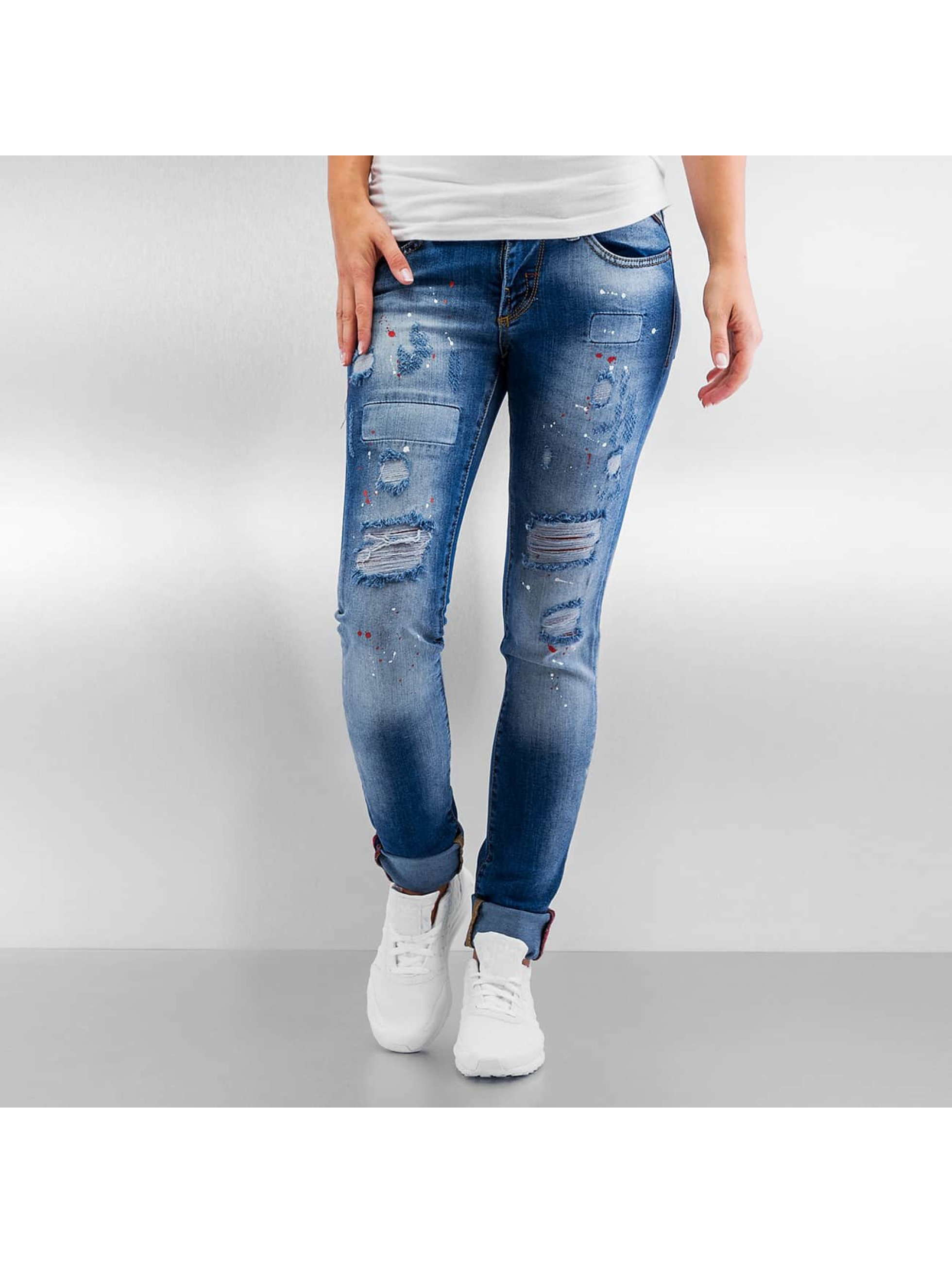 Pascucci Frauen Straight Fit Jeans B-Reno in blau