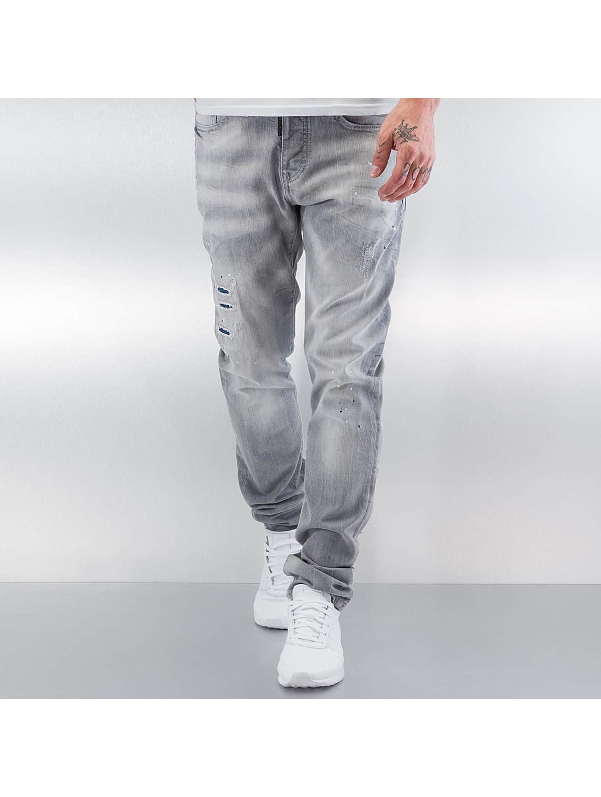 Pascucci Männer Straight Fit Jeans Tony in grau