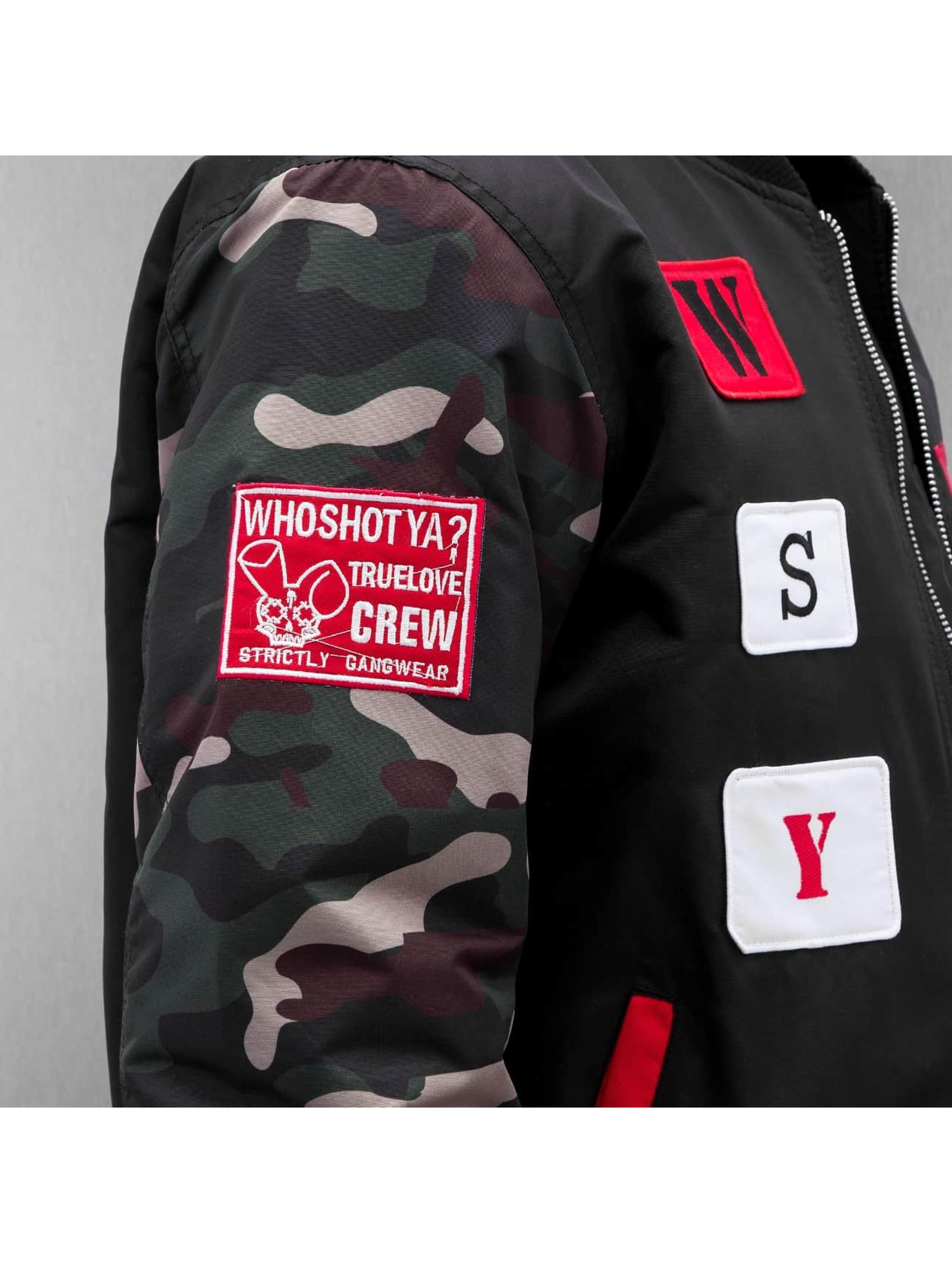 Who Shot Ya? Куртка-бомбардир icekubicekube черный