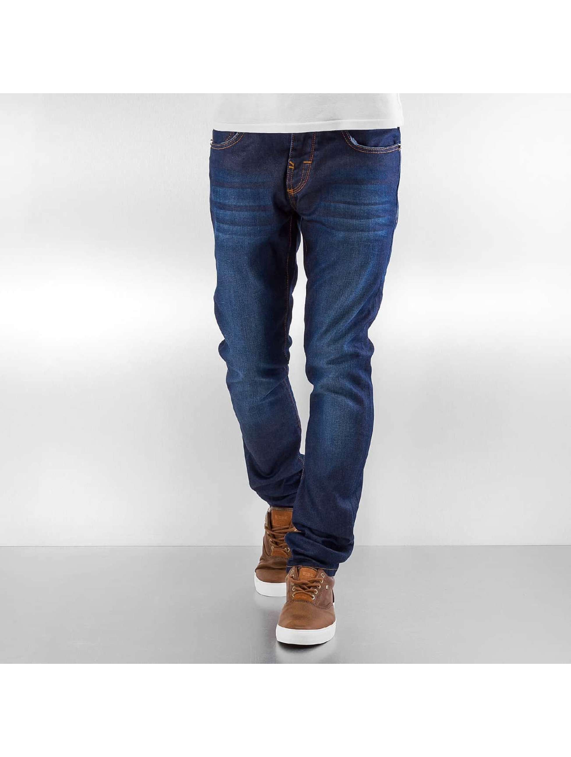 Pascucci Männer Straight Fit Jeans Lein in blau
