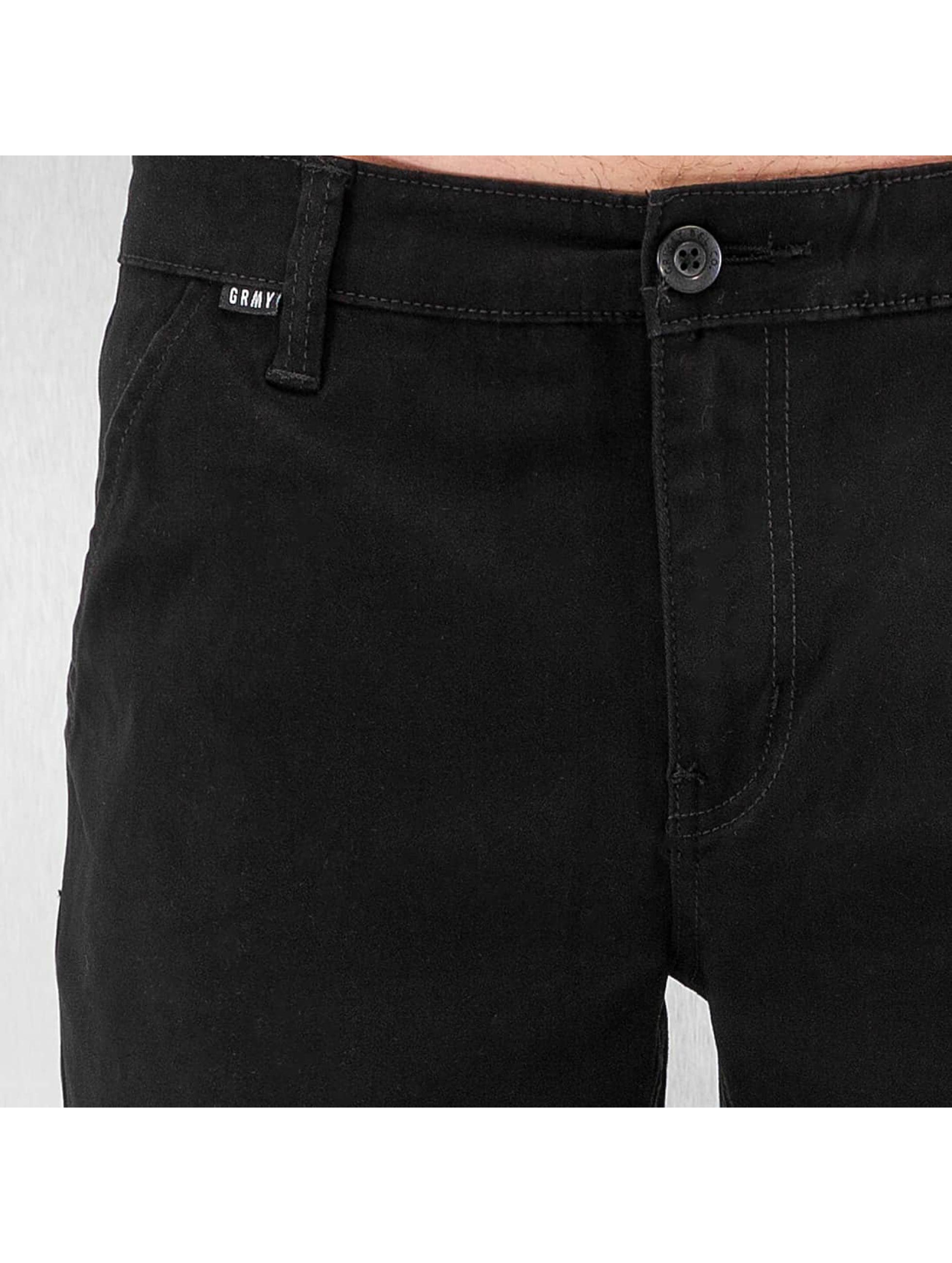 Grimey Wear Männer Jogginghose Twill Peach in schwarz