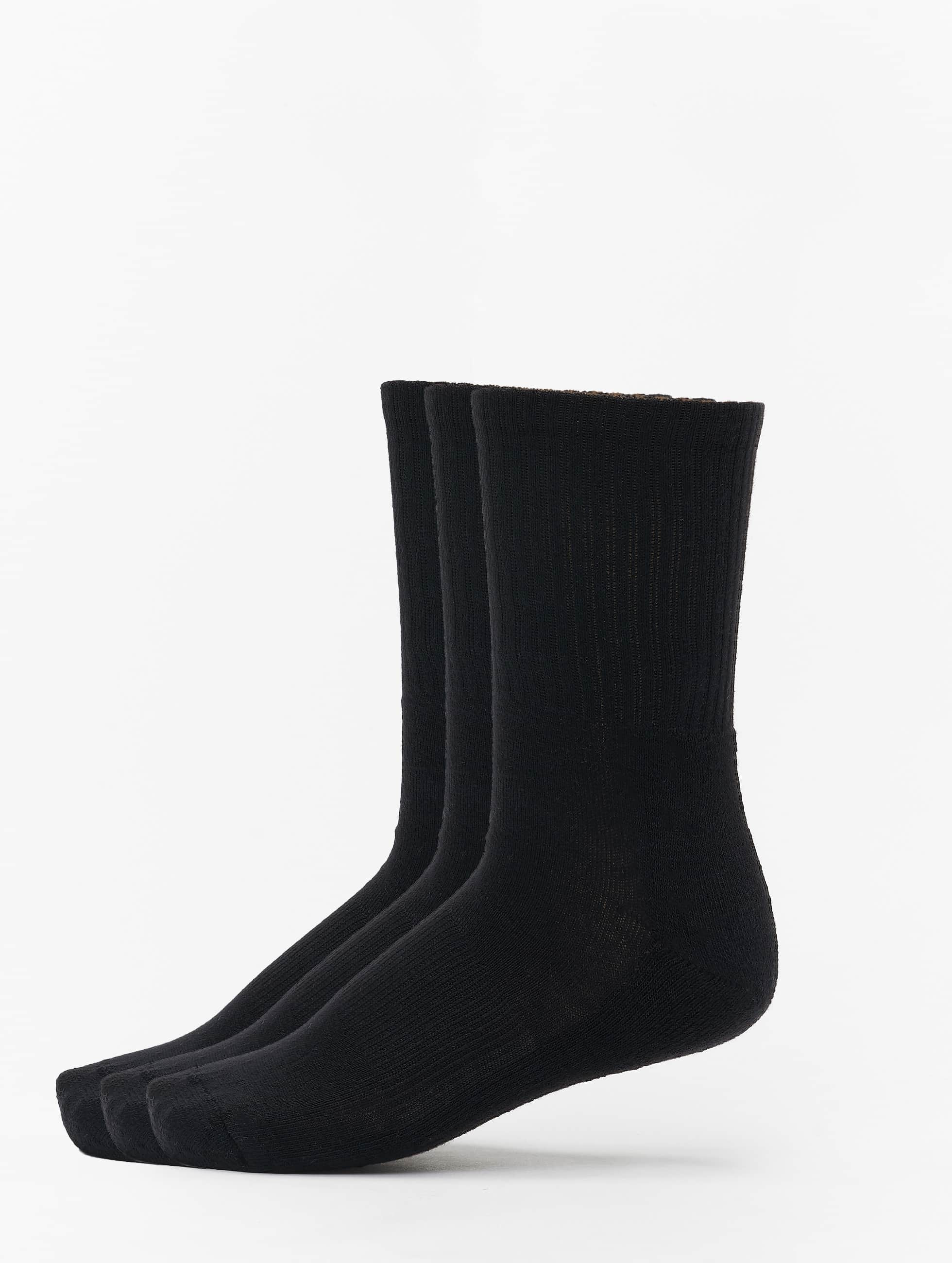 Urban Classics Männer,Frauen Socken 3-Pack Sport in schwarz