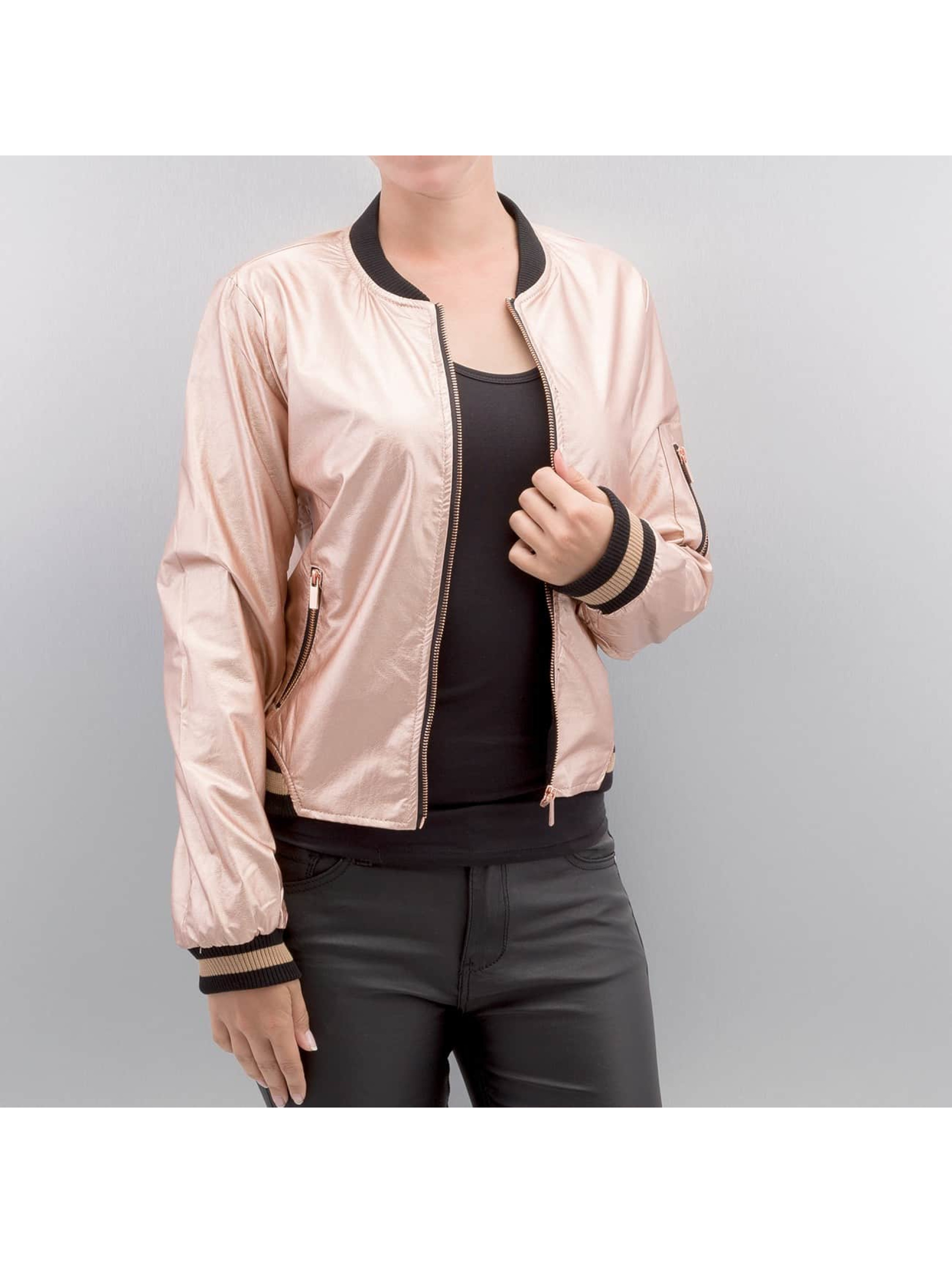 Hailys Frauen Lederjacke Bonnie in rosa