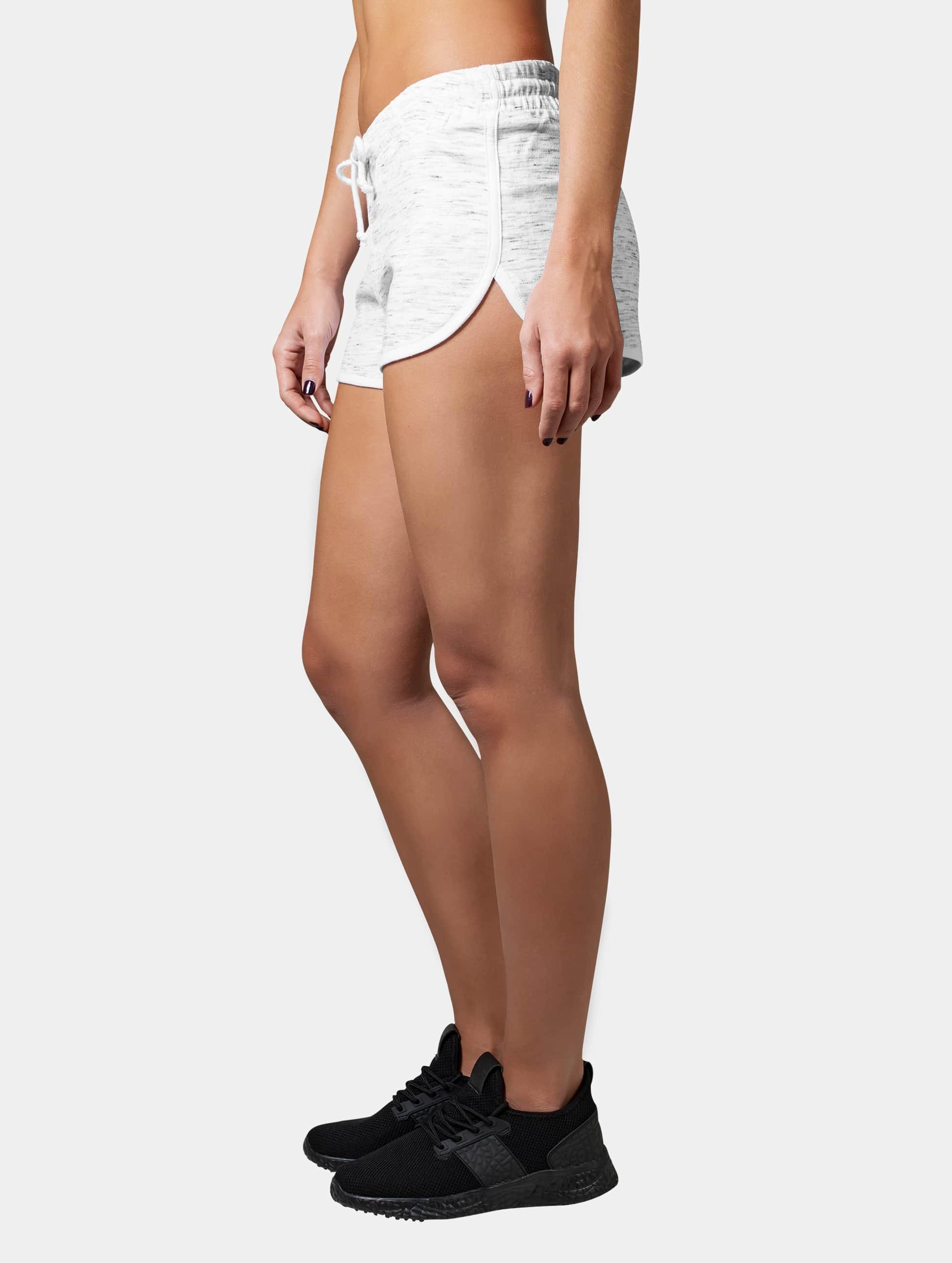Urban Classics Frauen Shorts Space Dye in weiß