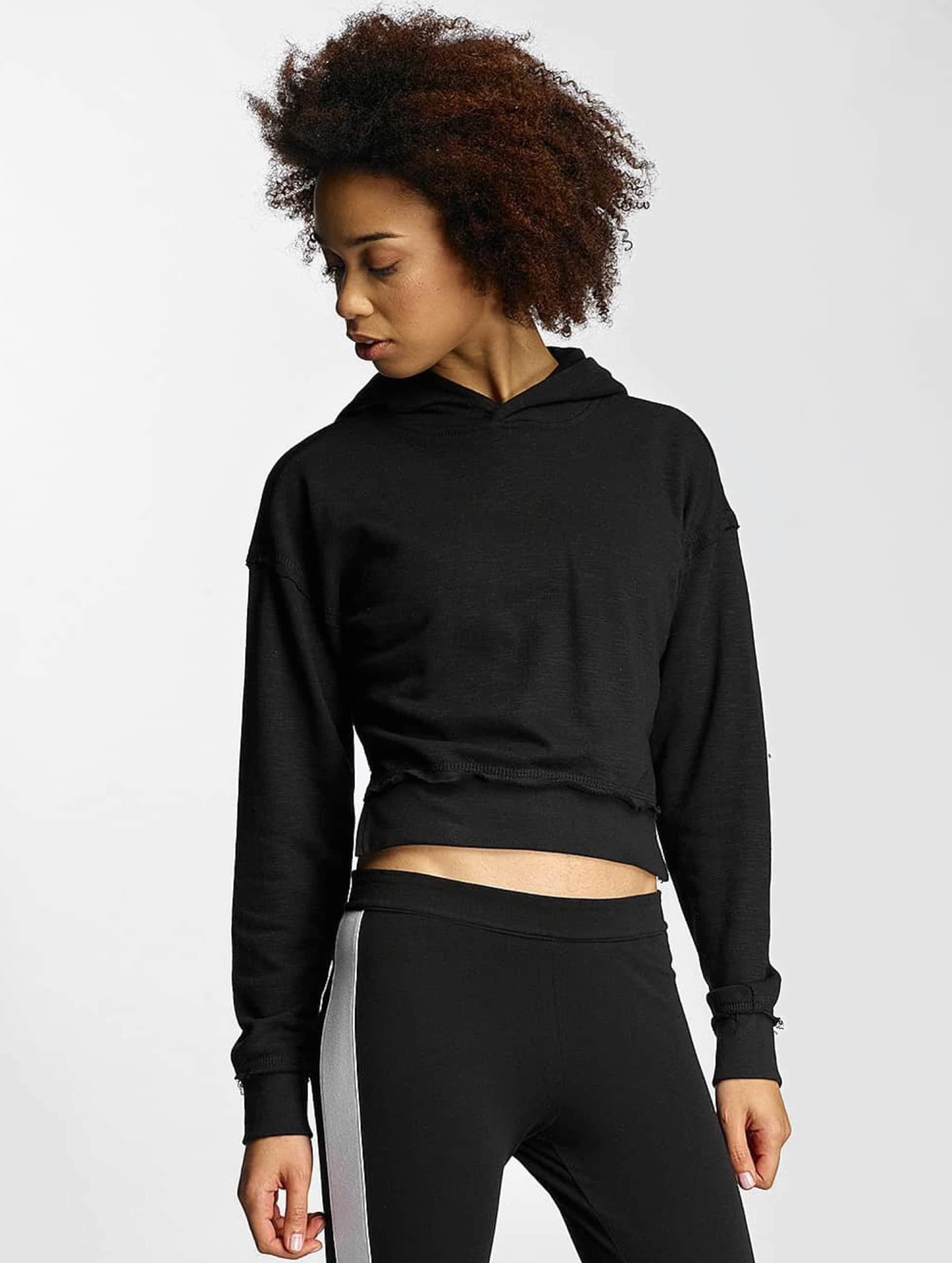 Urban Classics Frauen Hoody Ladies Slub Terry in schwarz