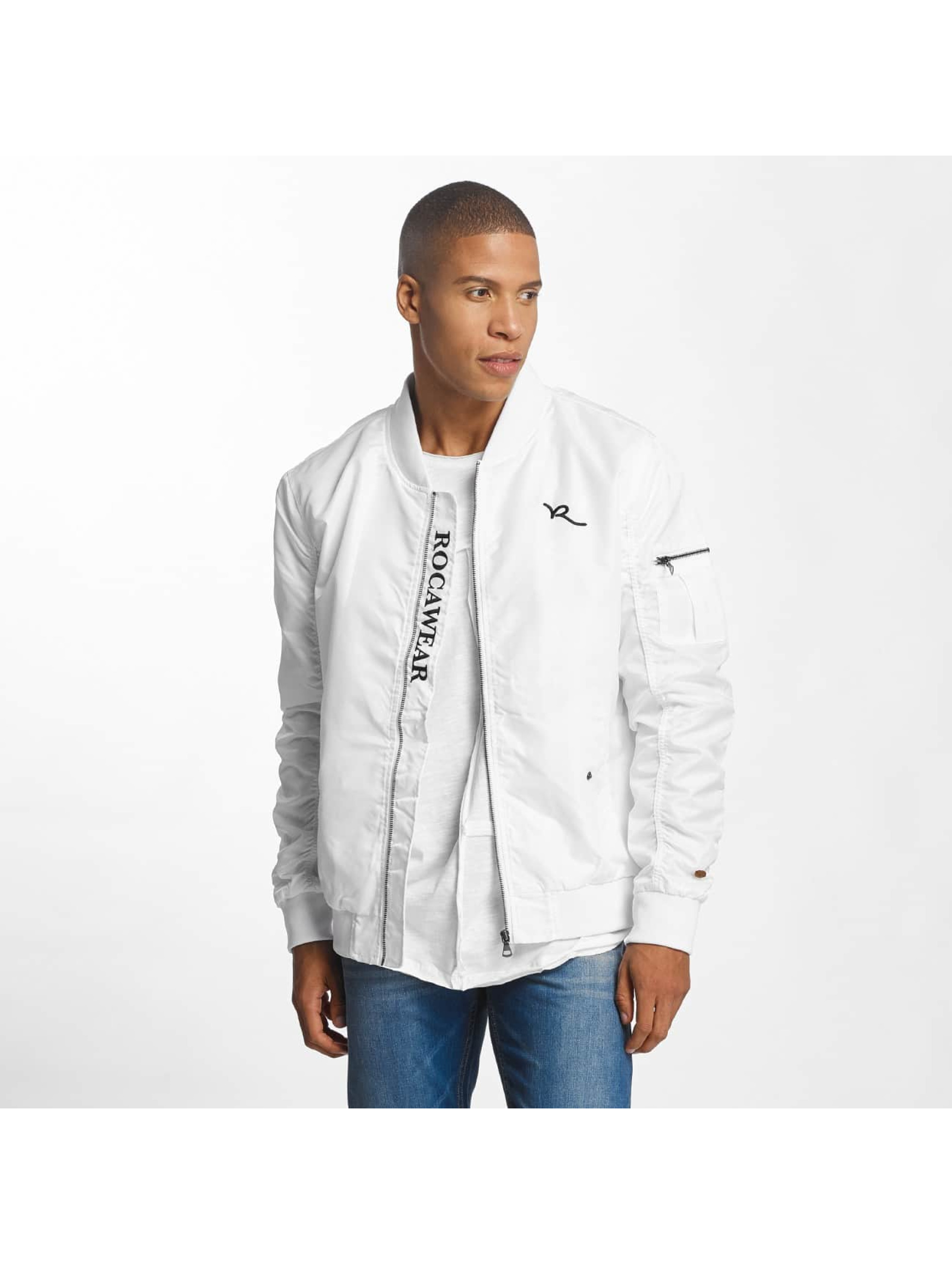 Rocawear / Bomber jacket Dariusz in white XL