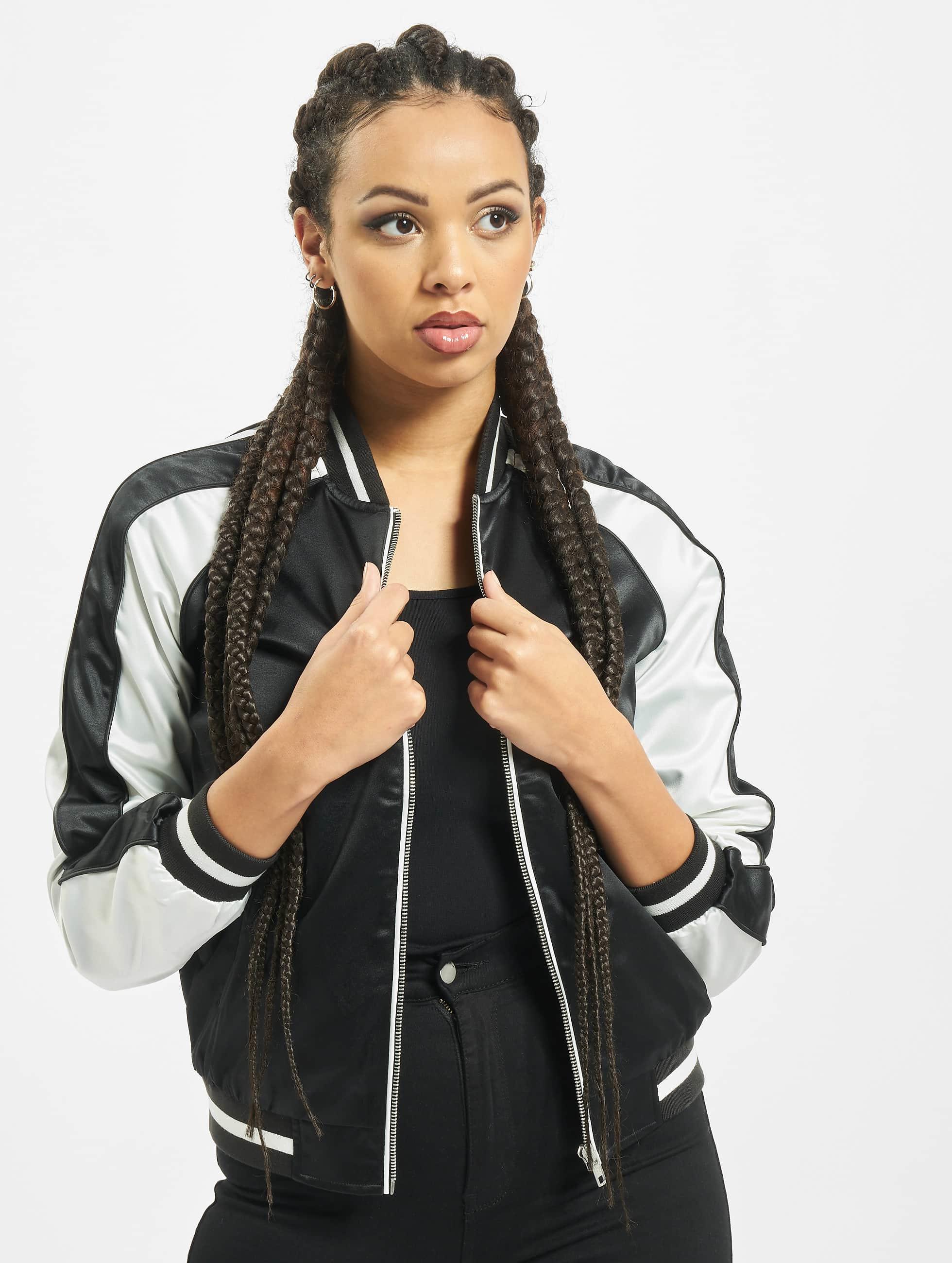 Urban Classics Frauen College Jacke 3 Tone Souvenir in schwarz