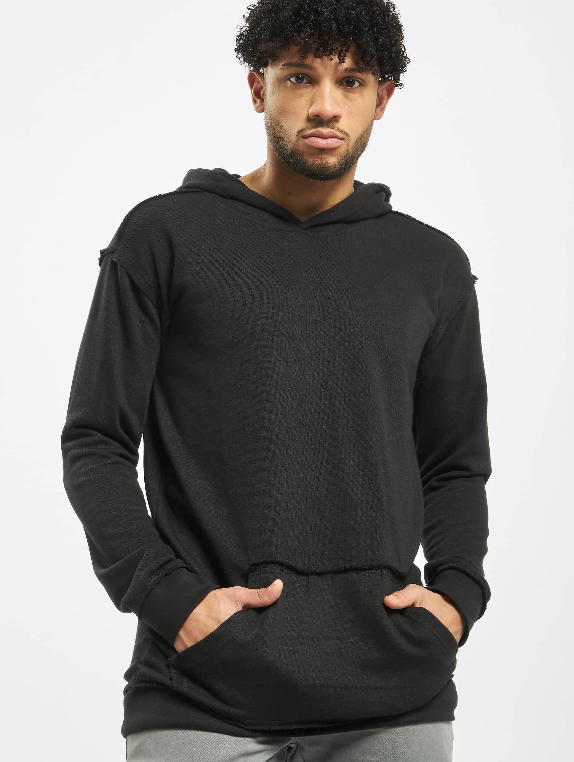 Urban Classics Männer Hoody Oversized Open Edge in schwarz