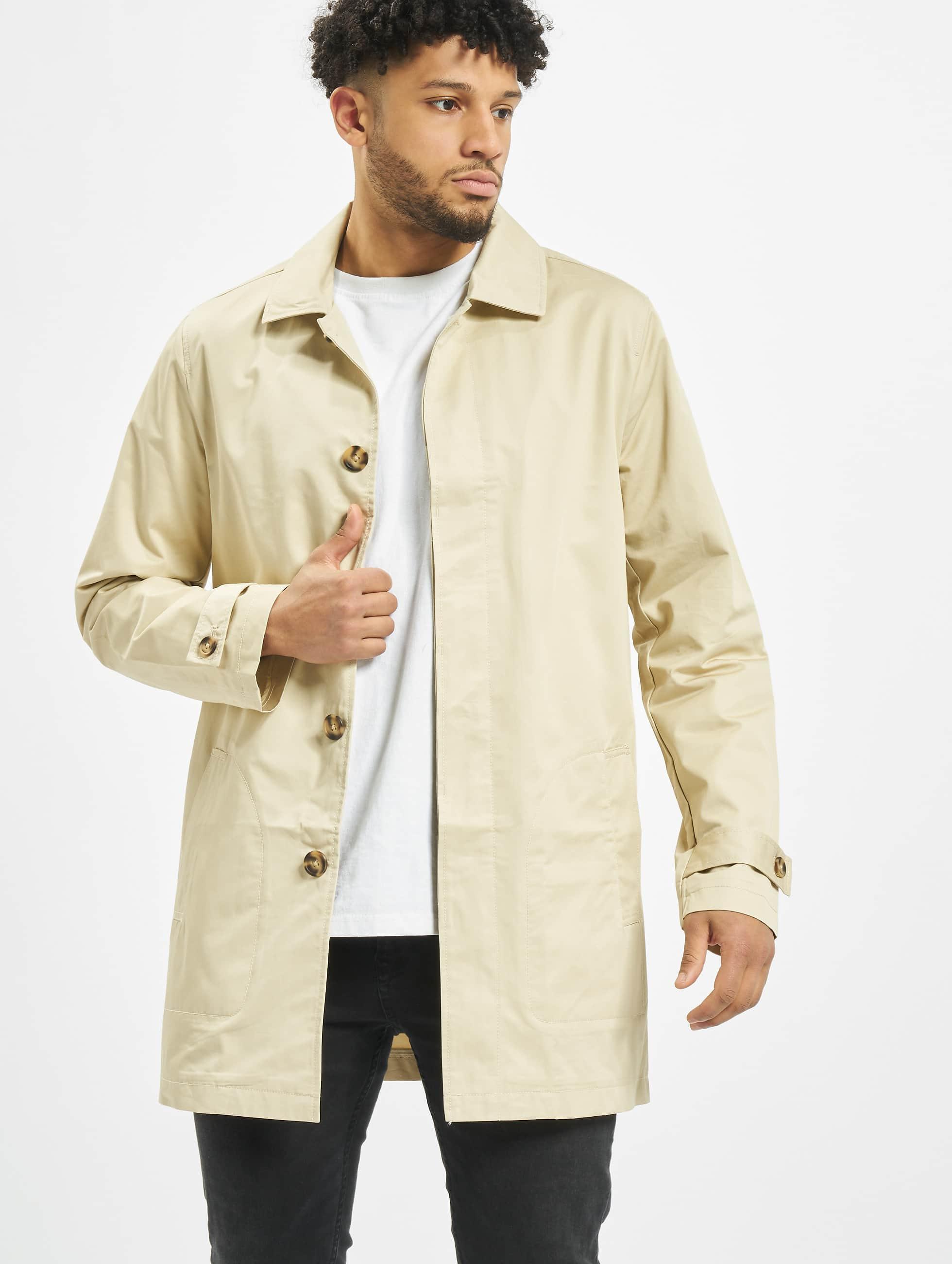 Urban Classics Männer Mantel Gabardine in beige