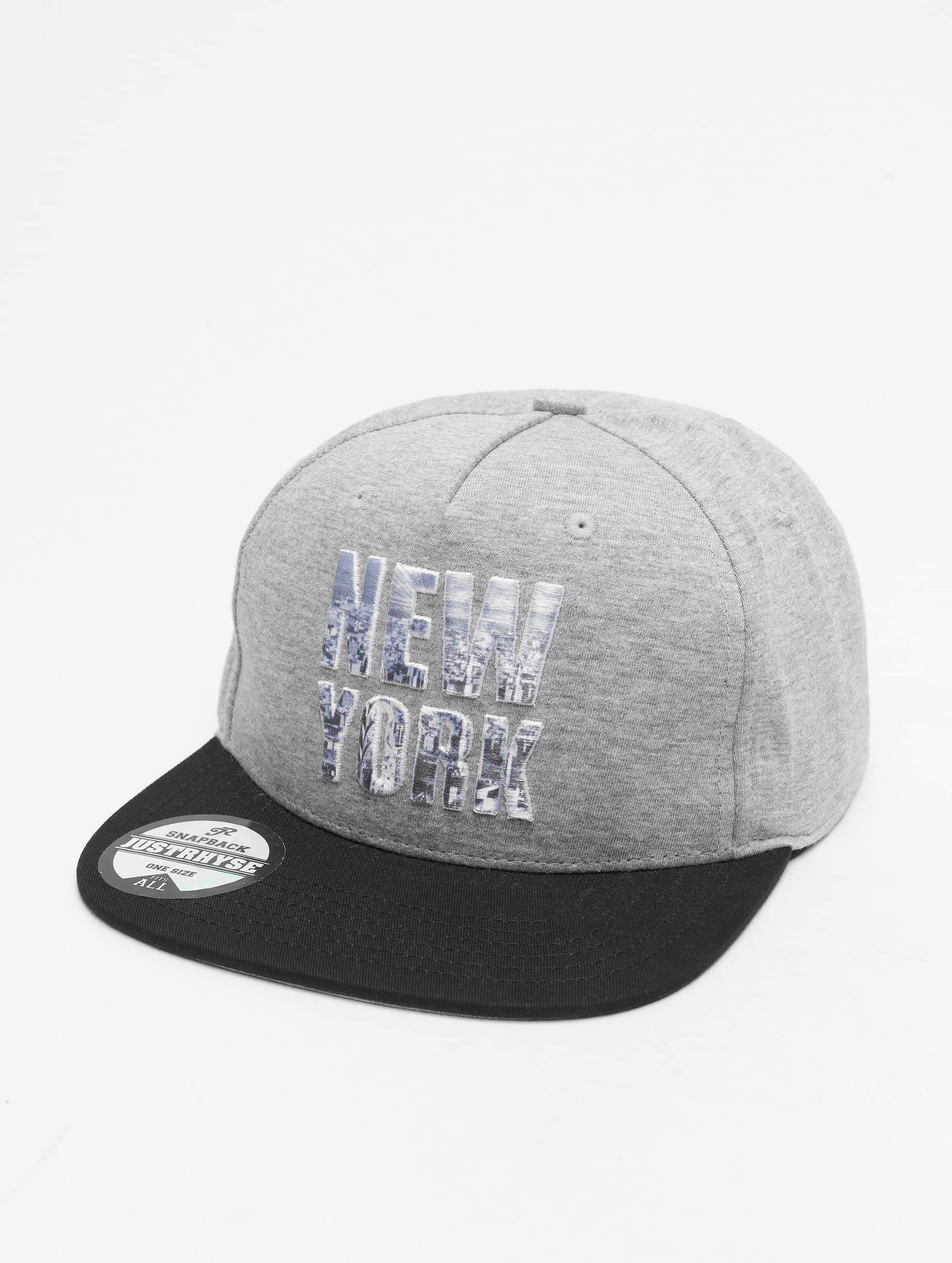 Just Rhyse / Snapback Cap New York Style in grey Adjustable