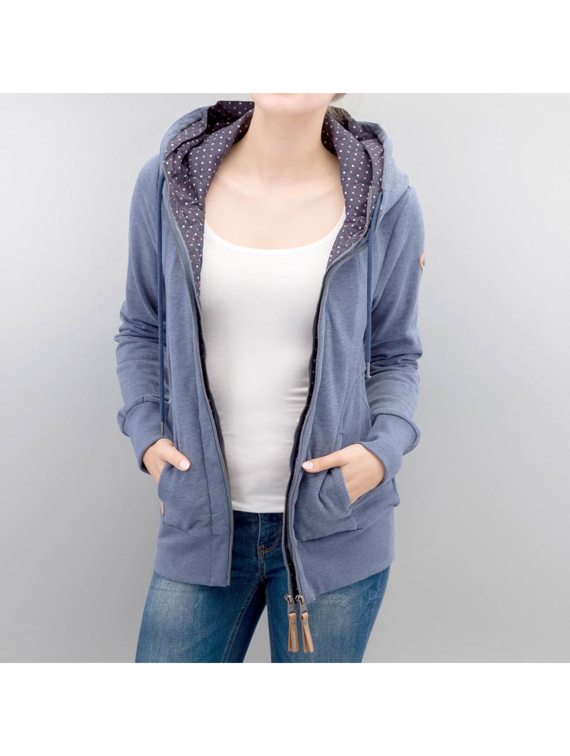 Ragwear Frauen Zip Hoodie Belicia in blau
