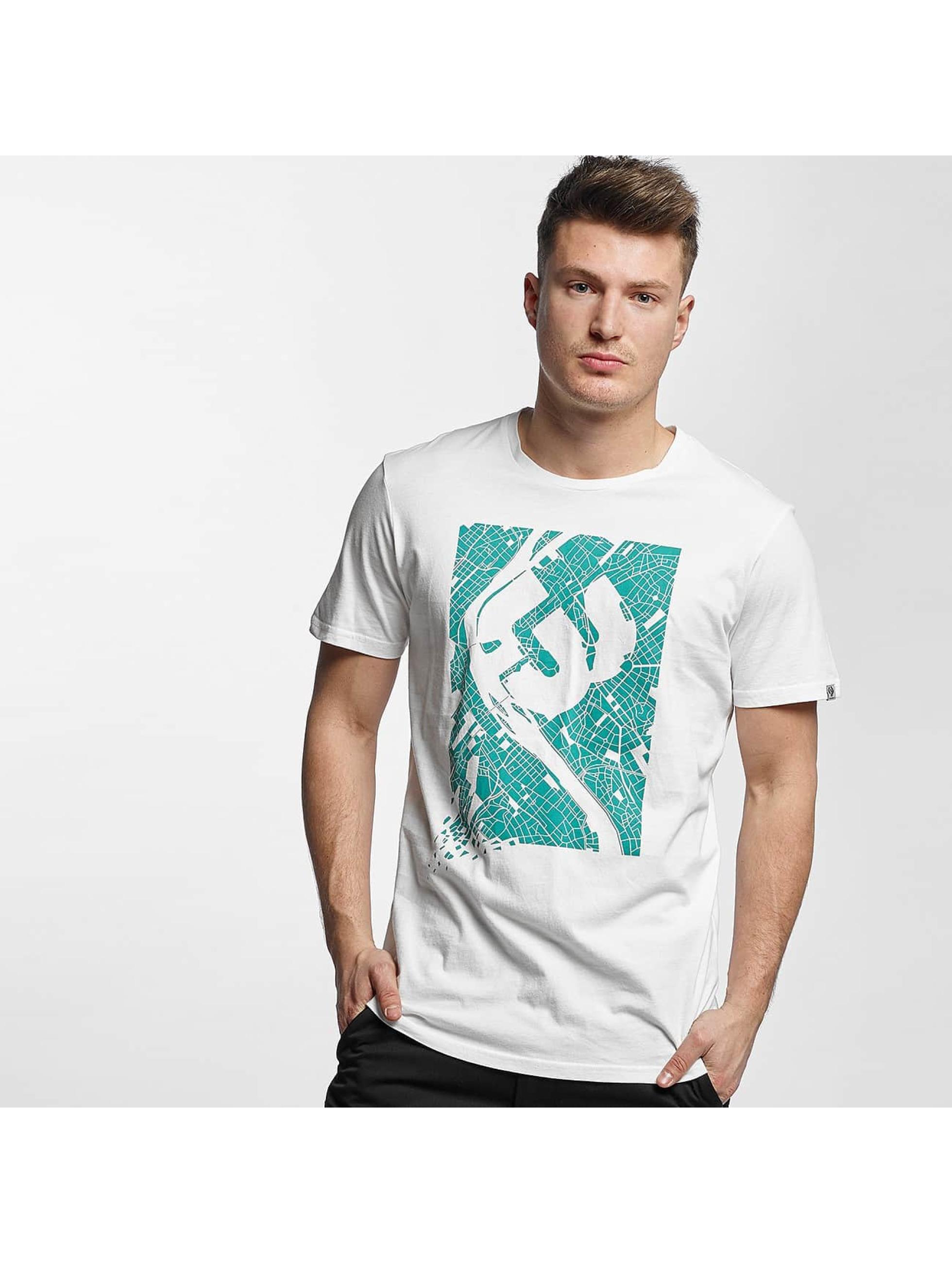 Ragwear Männer T-Shirt Paddy Map in weiß