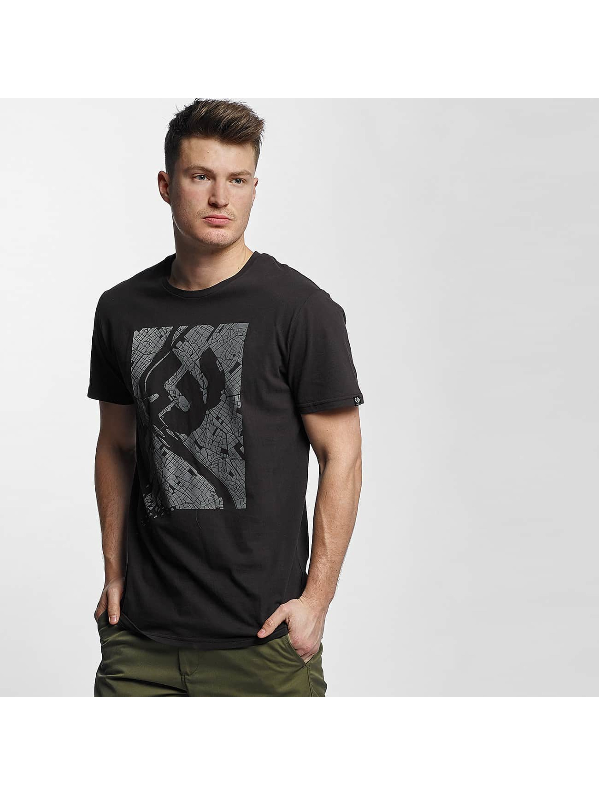 Ragwear Männer T-Shirt Paddy Map in schwarz