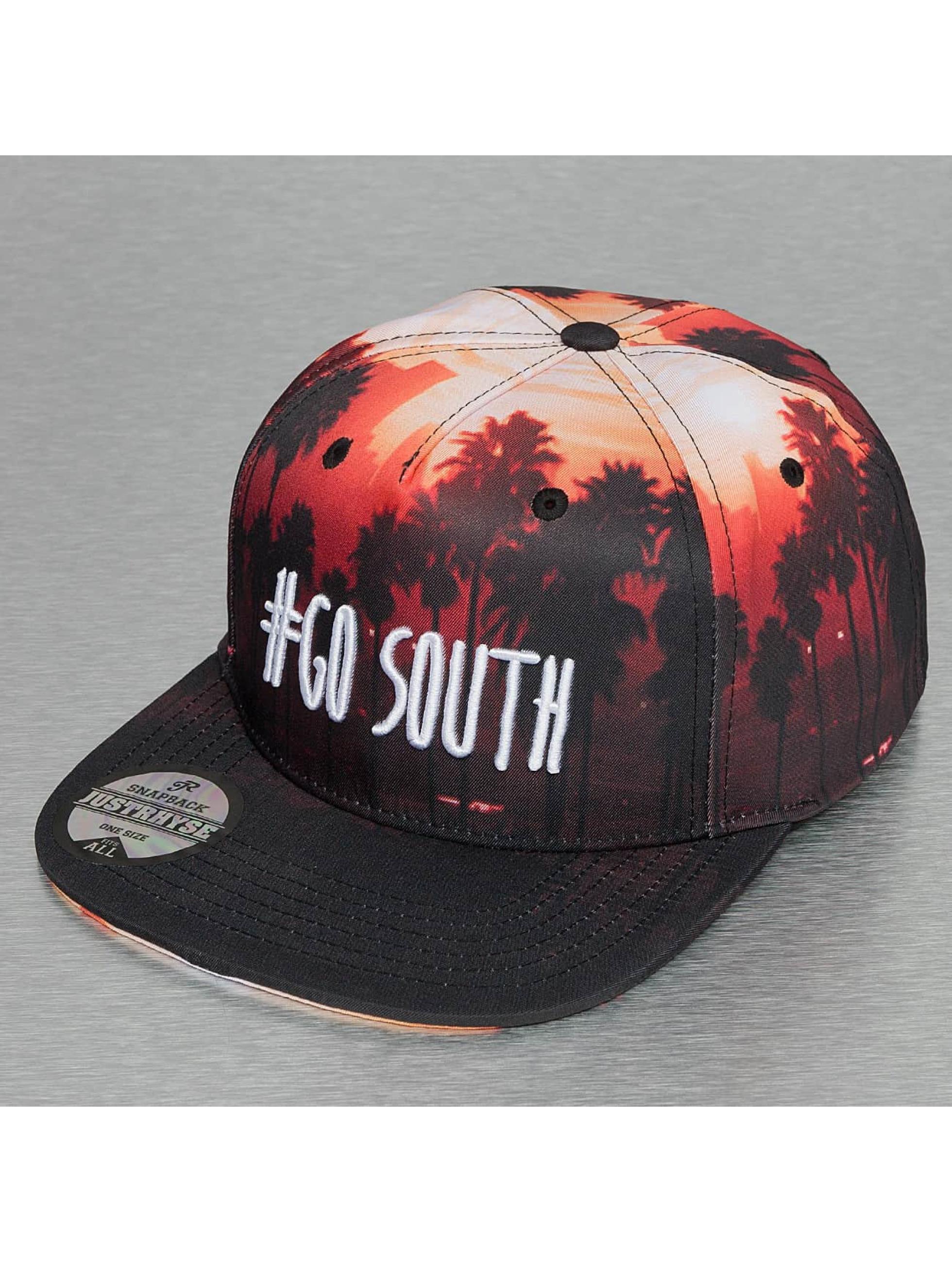 Just Rhyse / Snapback Cap Go South in black Adjustable
