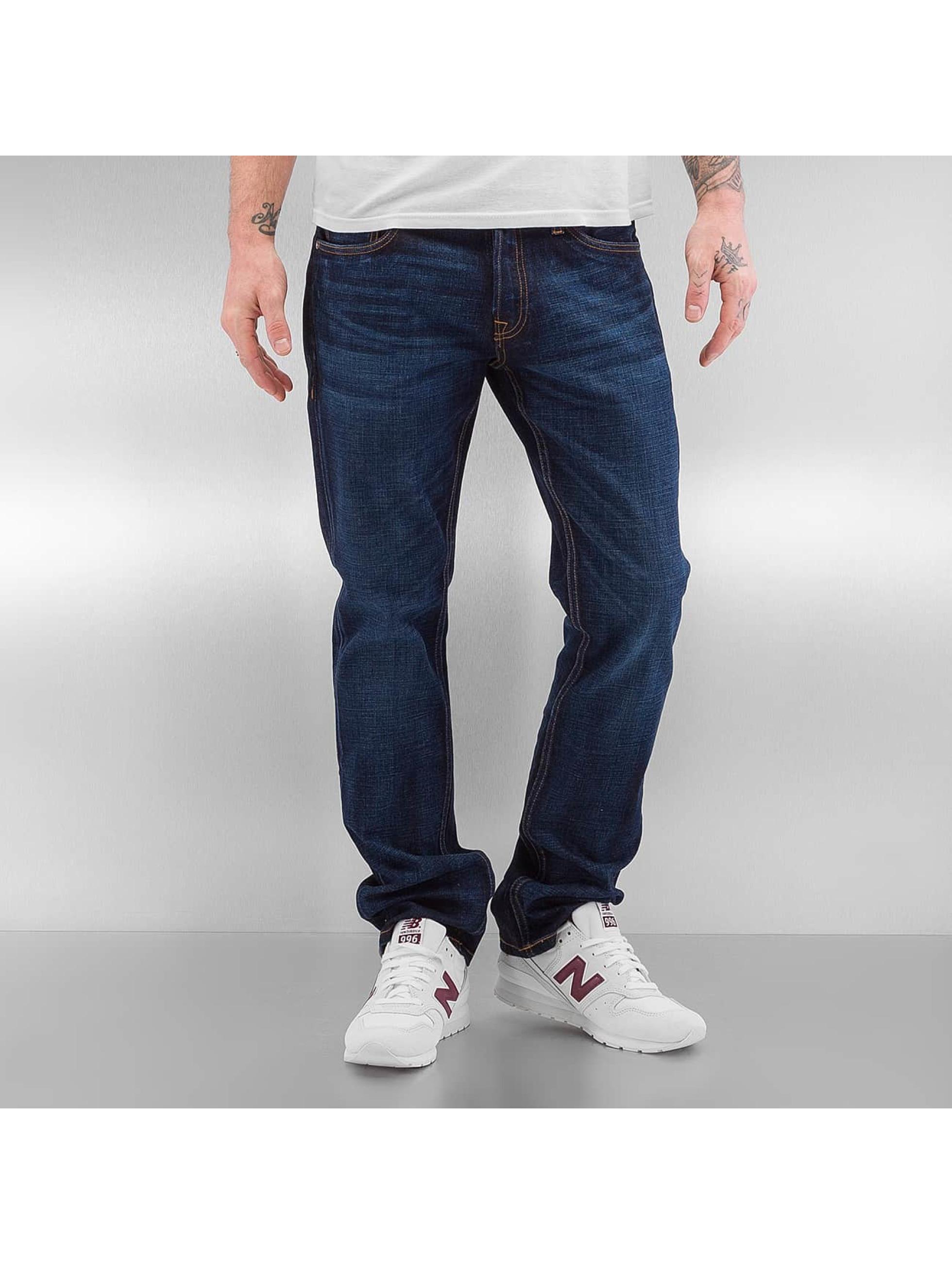 Jack & Jones Männer Straight Fit Jeans jjiClark jjOriginal in blau