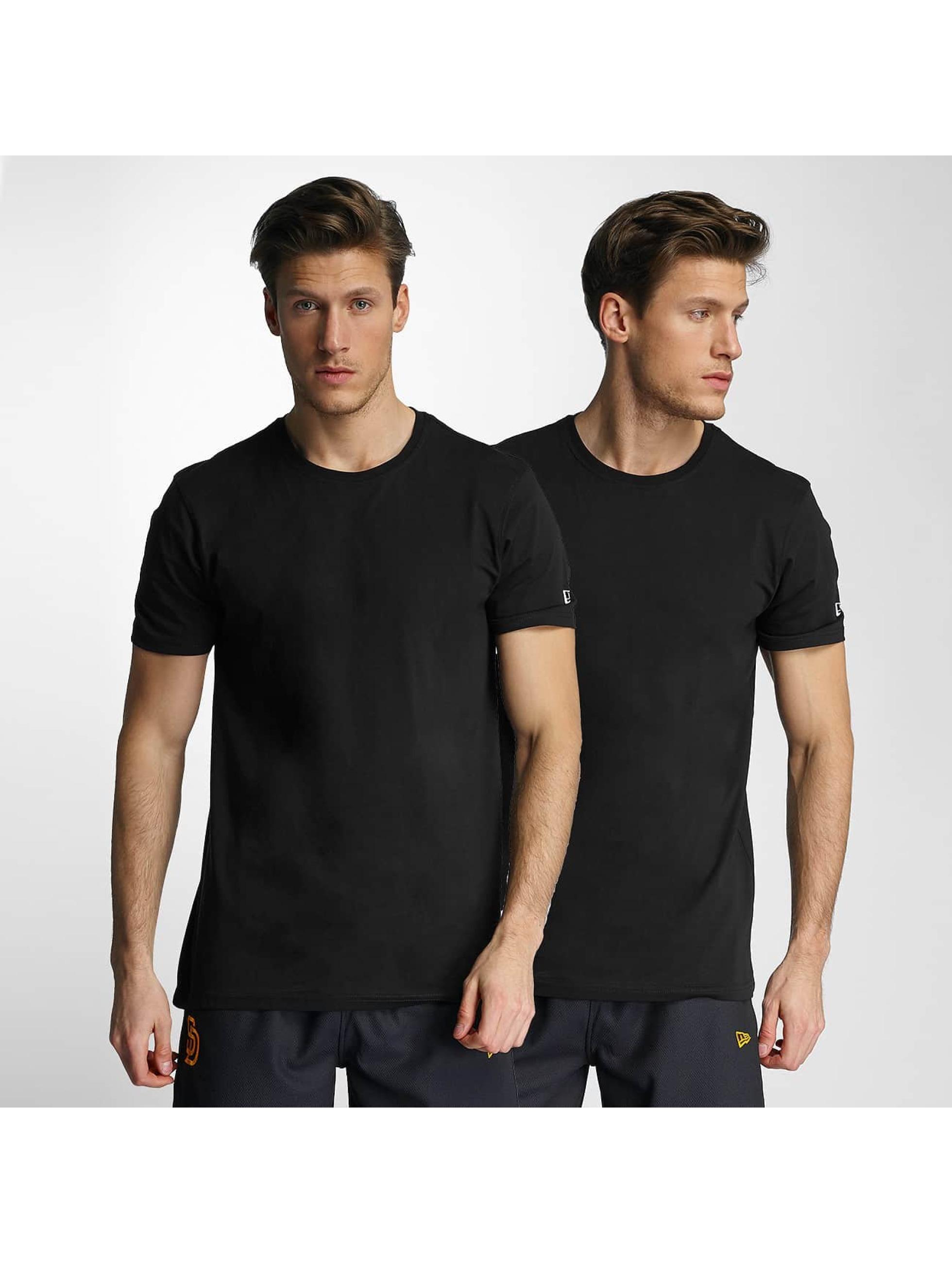 New Era Männer T-Shirt 2er Pack Pure in schwarz