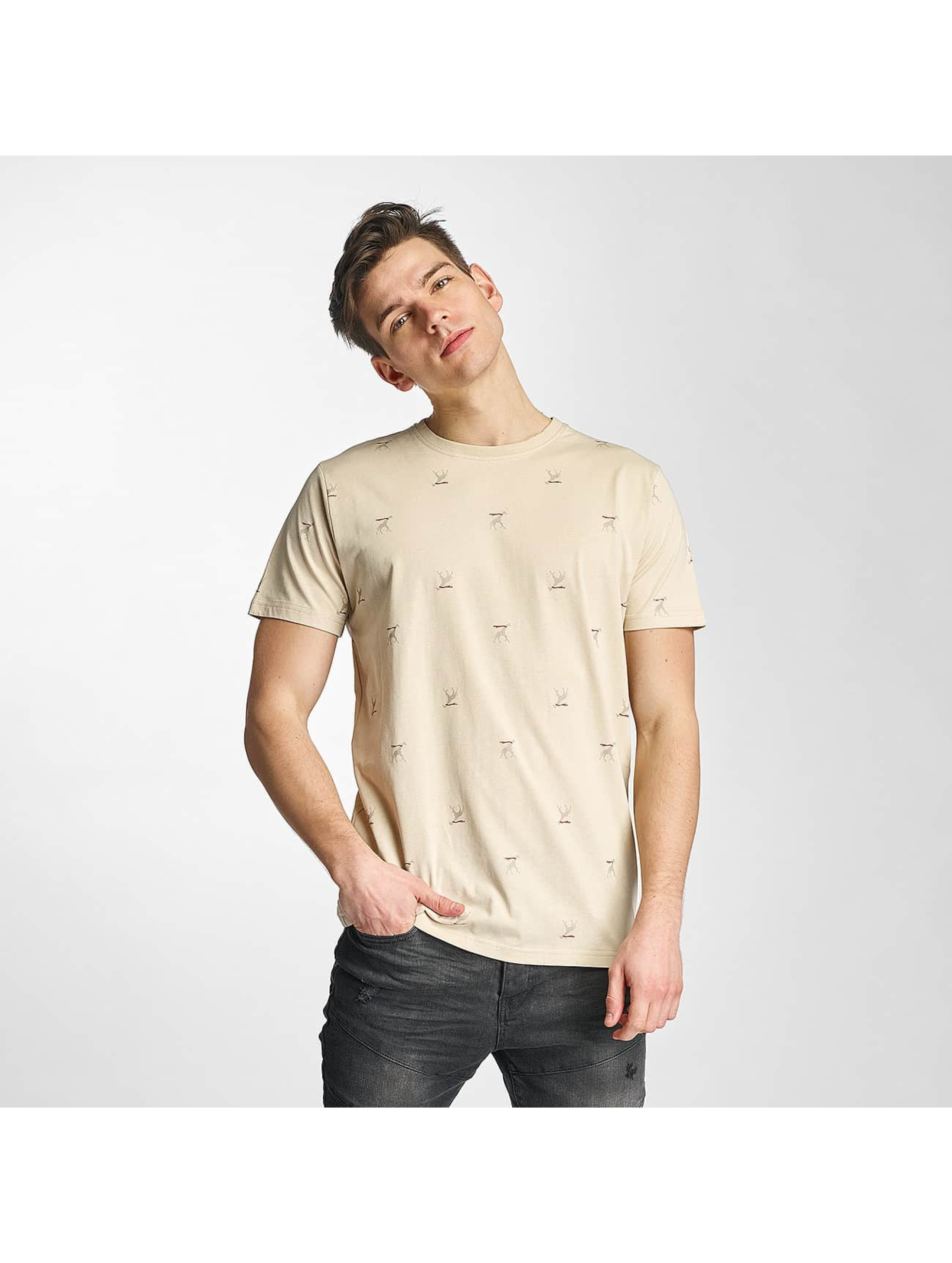 Cazzy Clang Männer T-Shirt Saint Barth in beige