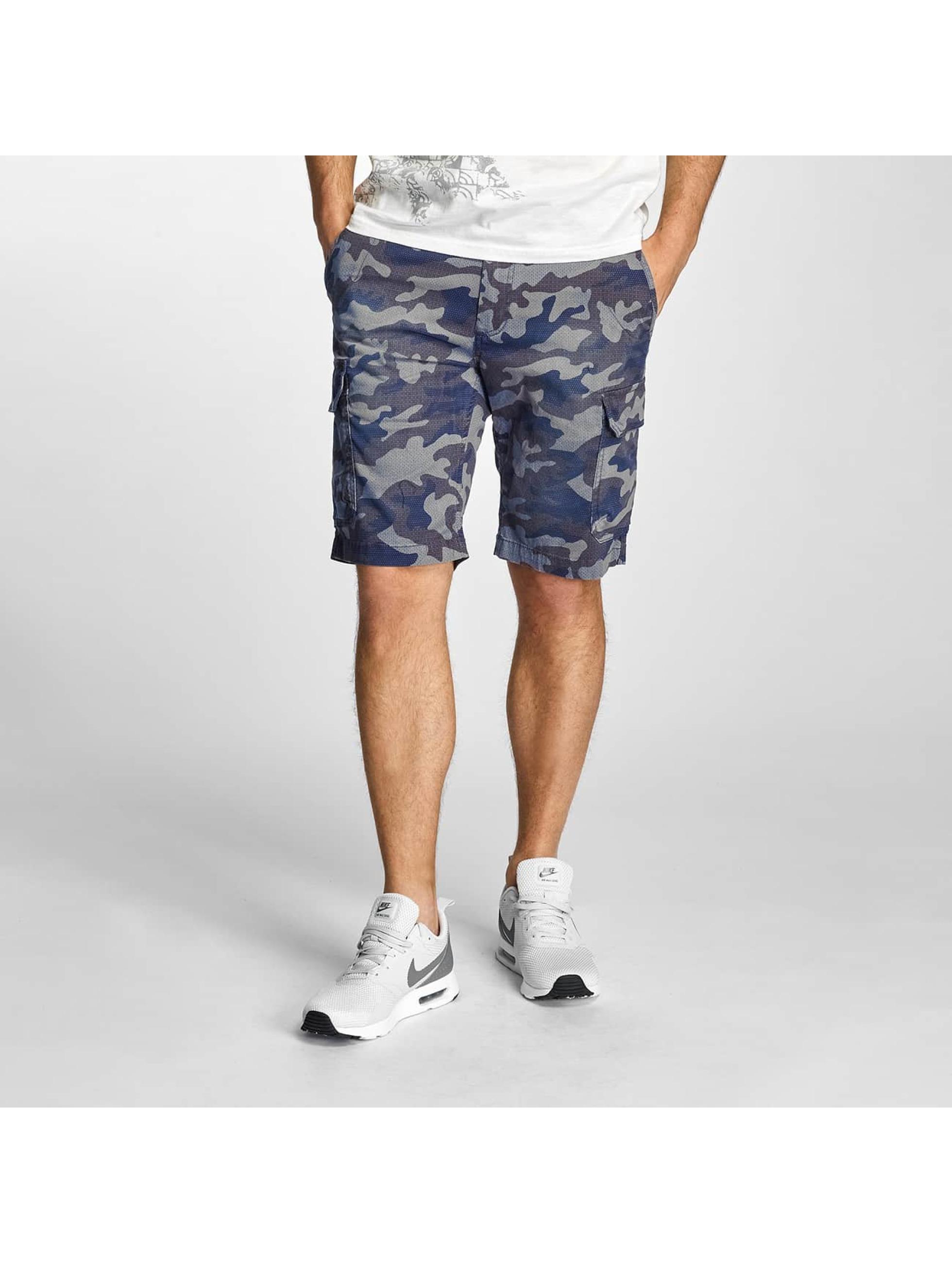 Petrol Industries Männer Shorts Camouflage in blau