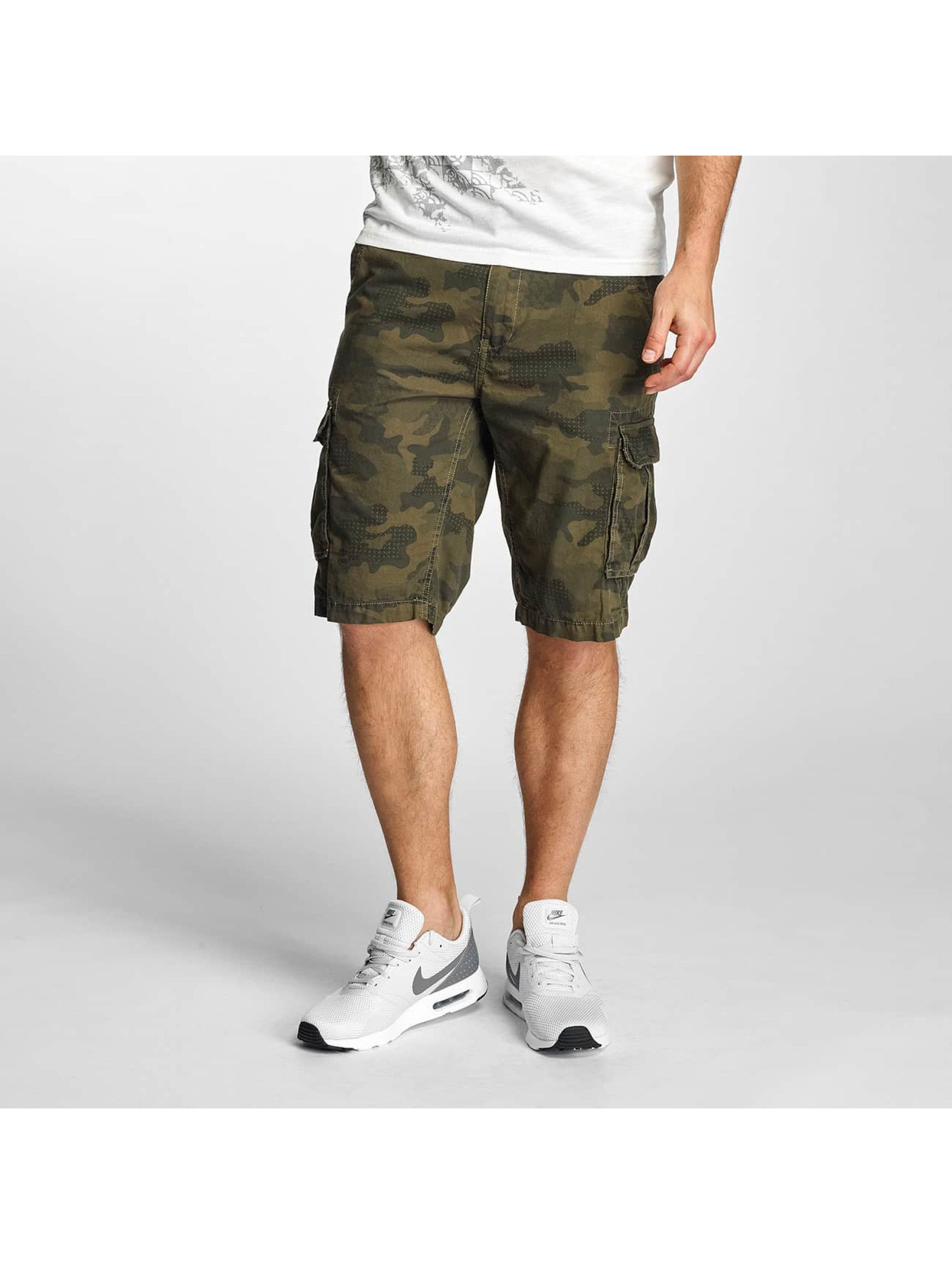 Petrol Industries Männer Shorts camouflage in olive